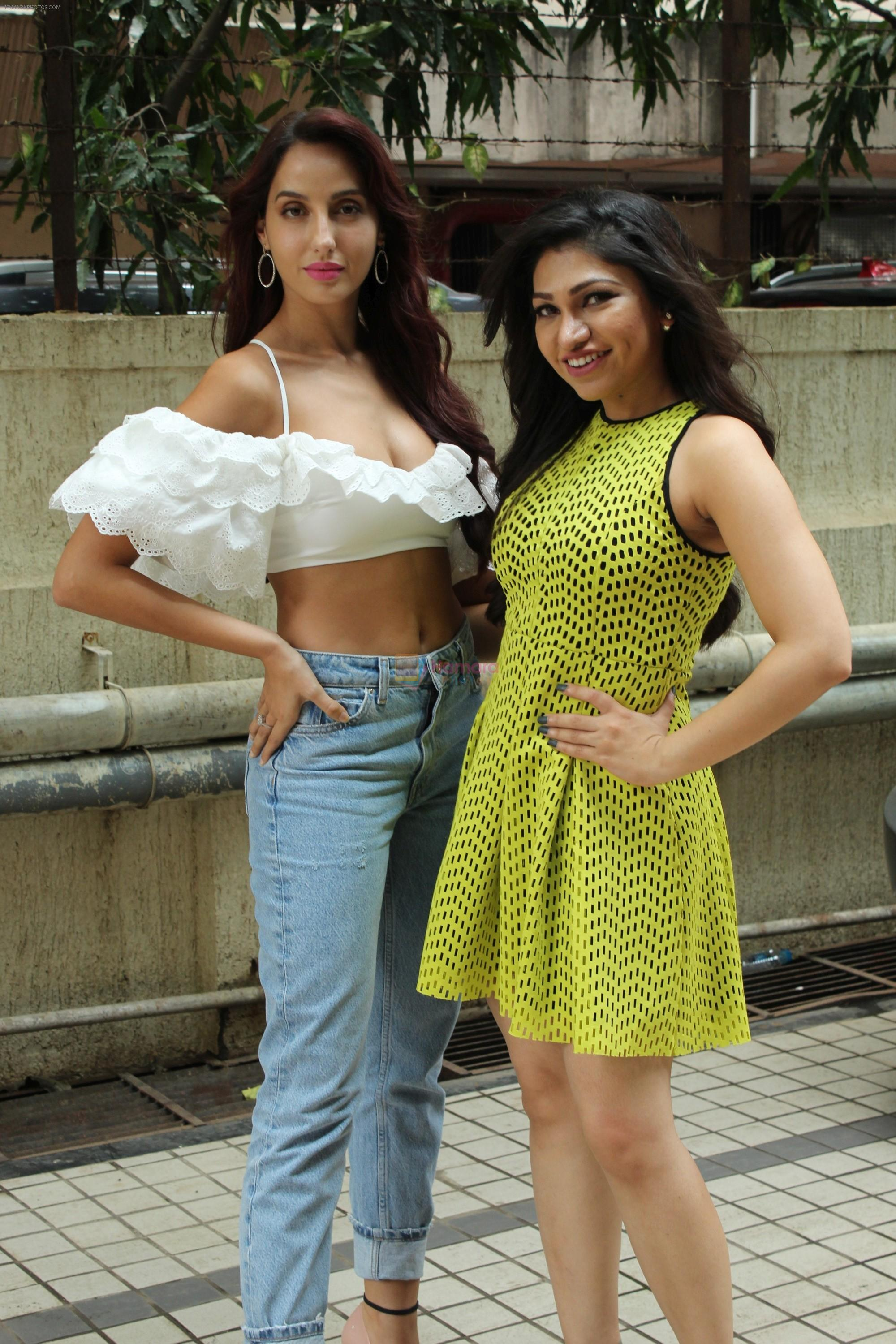 Nora Fatehi, Tulsi Kumar Spotted Of T Series Office For Promote Film Batla House on 18th July 2019