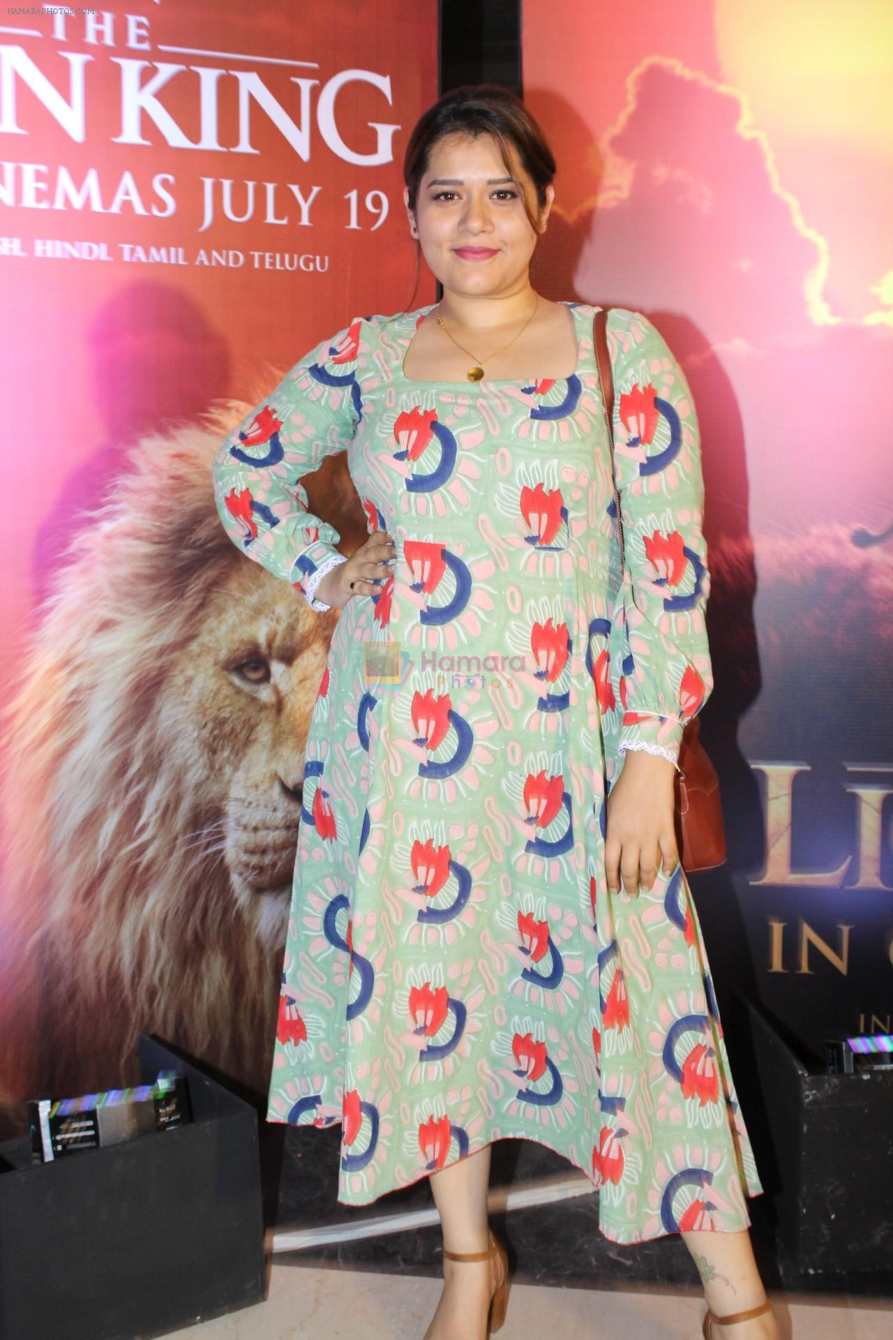 Shikha Talsania at the Special screening of film The Lion King on 18th July 2019