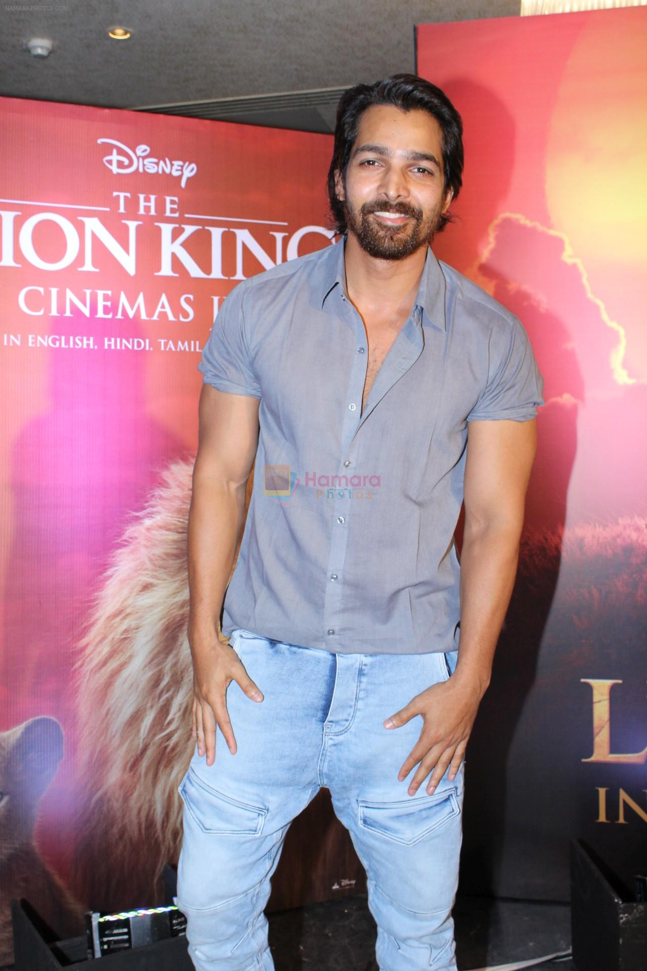 Harshvardhan Rane at the Special screening of film The Lion King on 18th July 2019