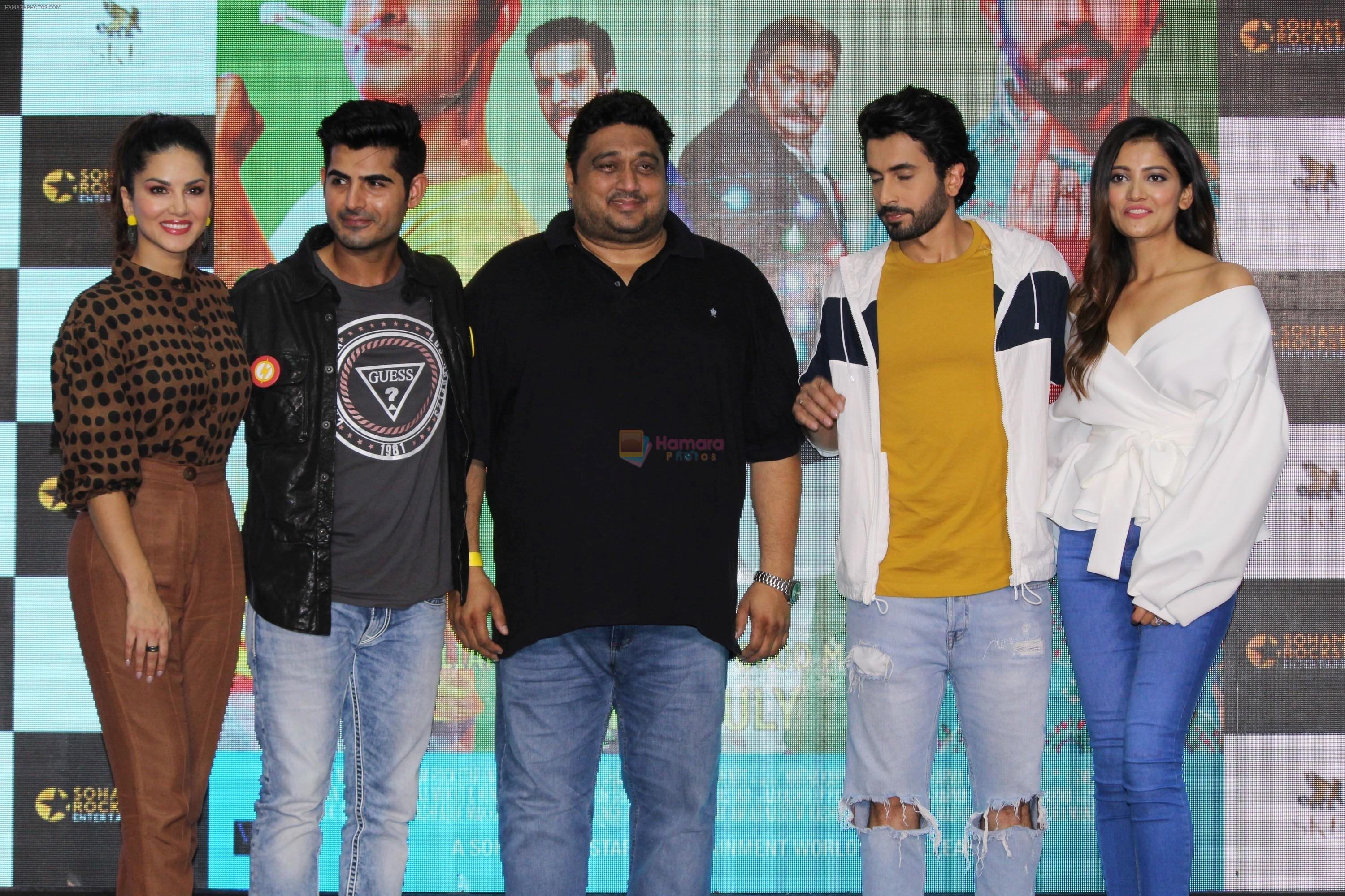 Sunny Leone, Sunny Singh Nijjar, Omkar Kapoor, Smeep Kang at the Song Launch Funk Love from movie Jhootha Kahin Ka on 11th July 2019