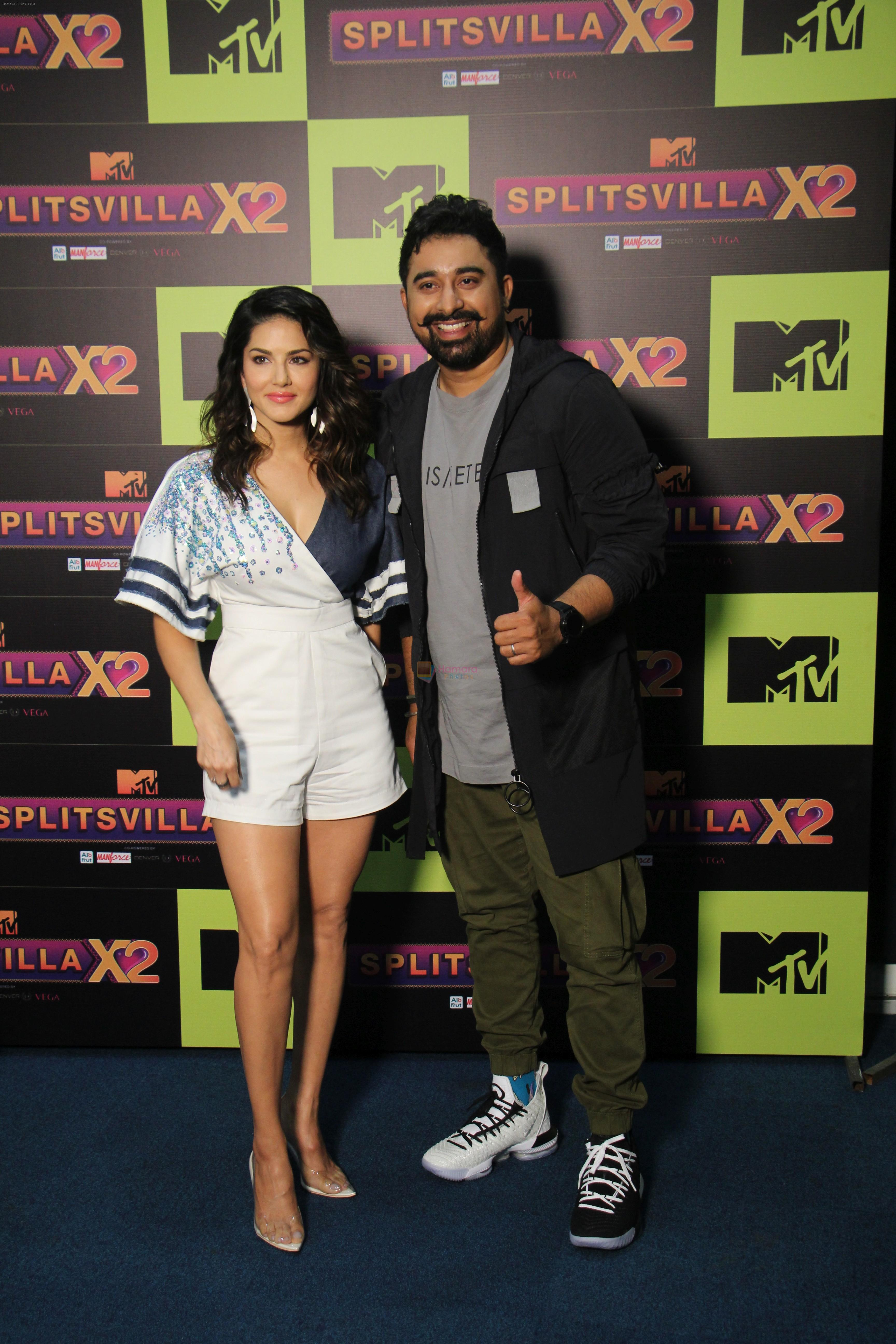 Rannvijay Singh, Sunny Leone at the Launch of Mtv splitsvilla on 17th July 2019
