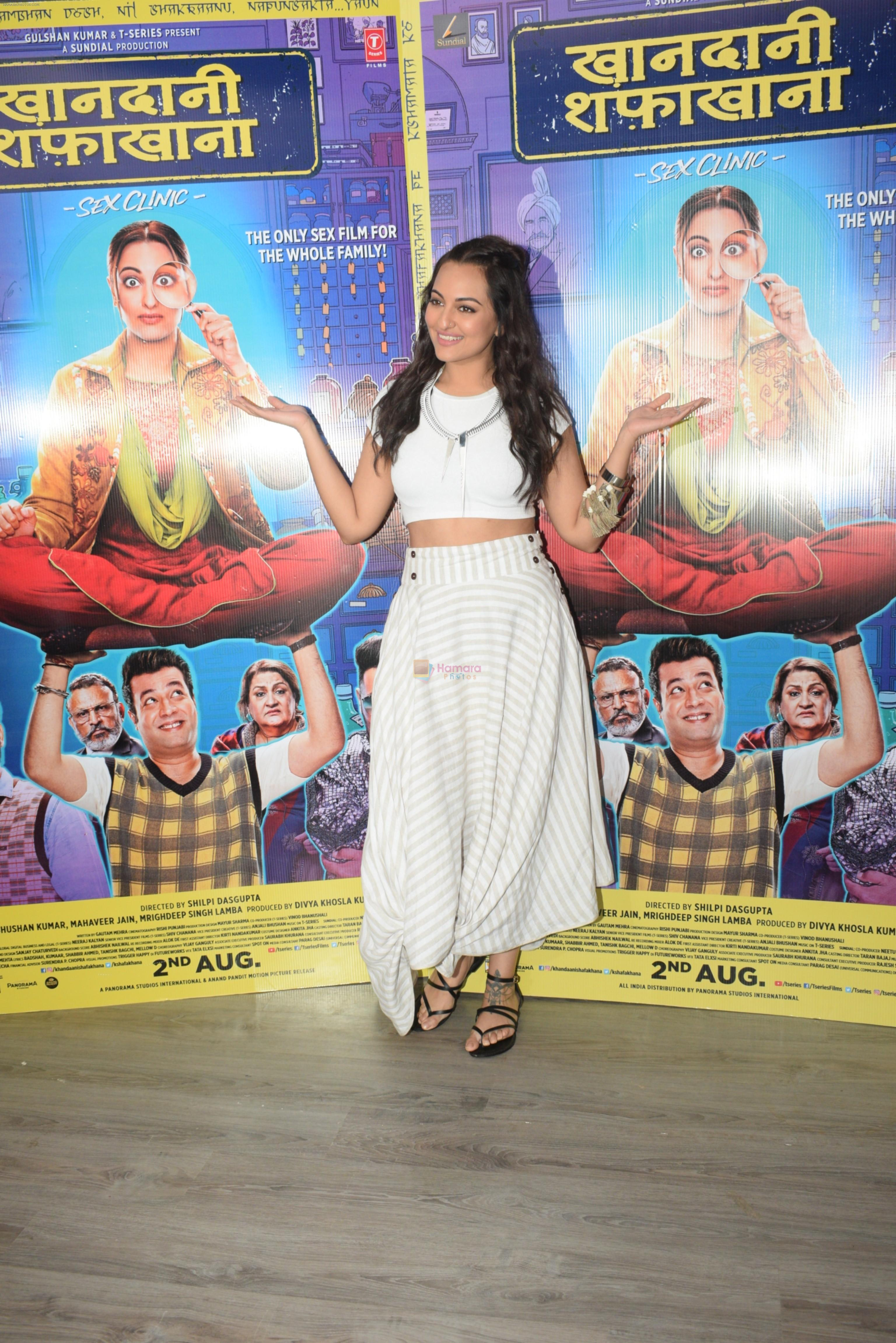 Sonakshi Sinha at the promotions of film Khandaani Shafakhana at Tseries office in andheri on 24th July 2019