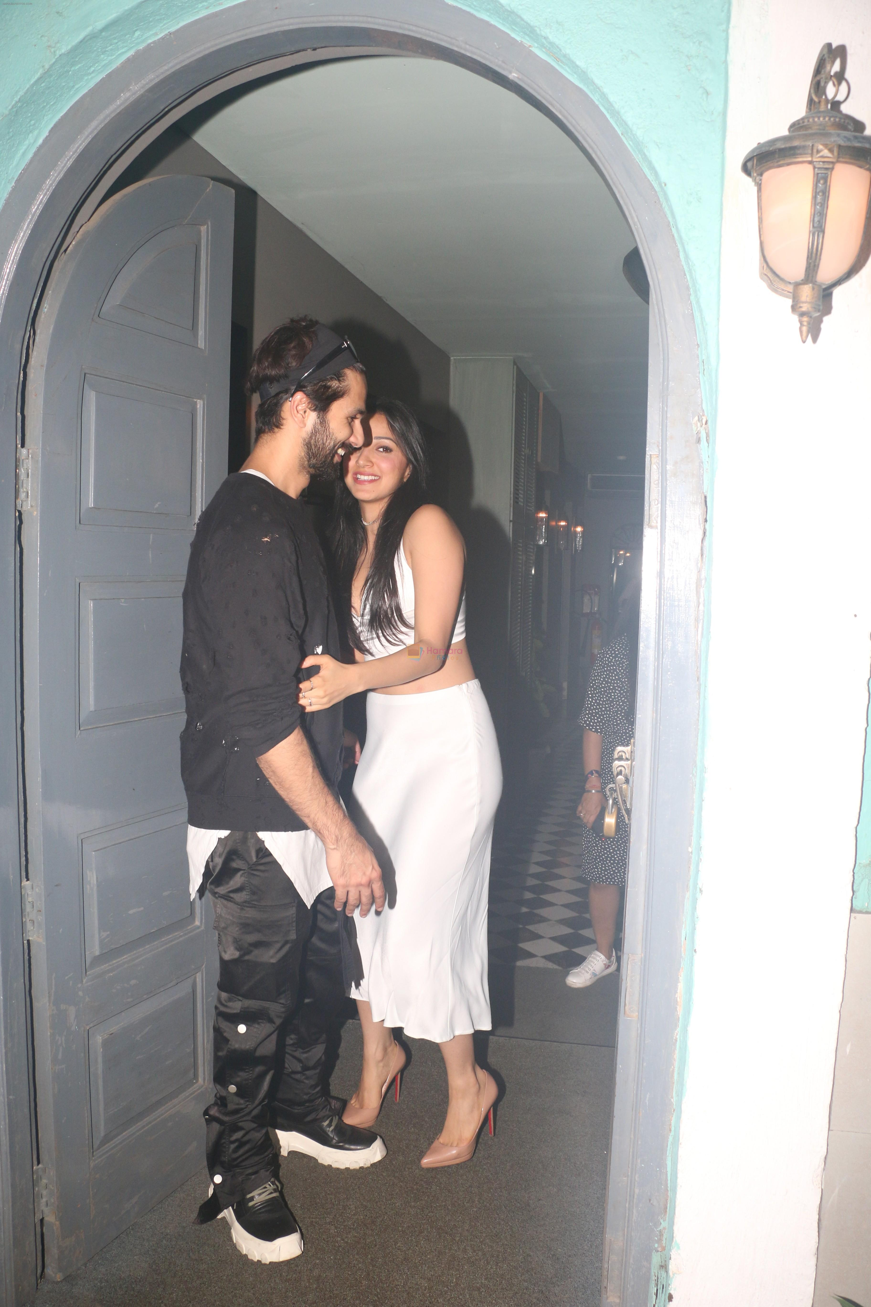 Shahid Kapoor, Kiara Advani at Kiara Advani's birthday party in worli on 31st July 2019