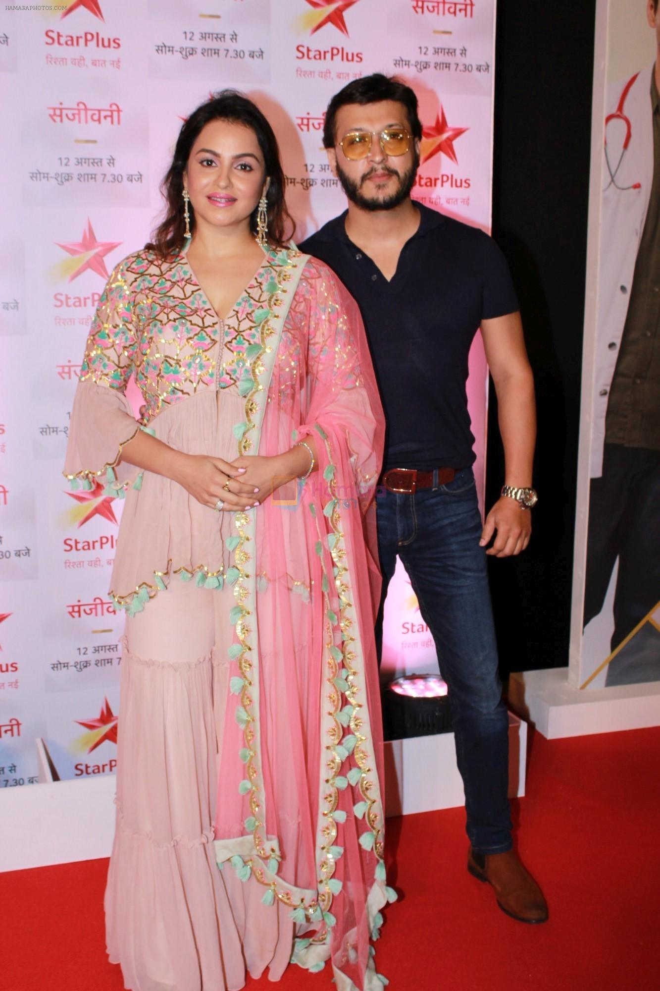 Gurdeep Kohli, Arjun Punj at the Red Carpet of Star Plus serial Sanjivani 2 on 31st July 2019
