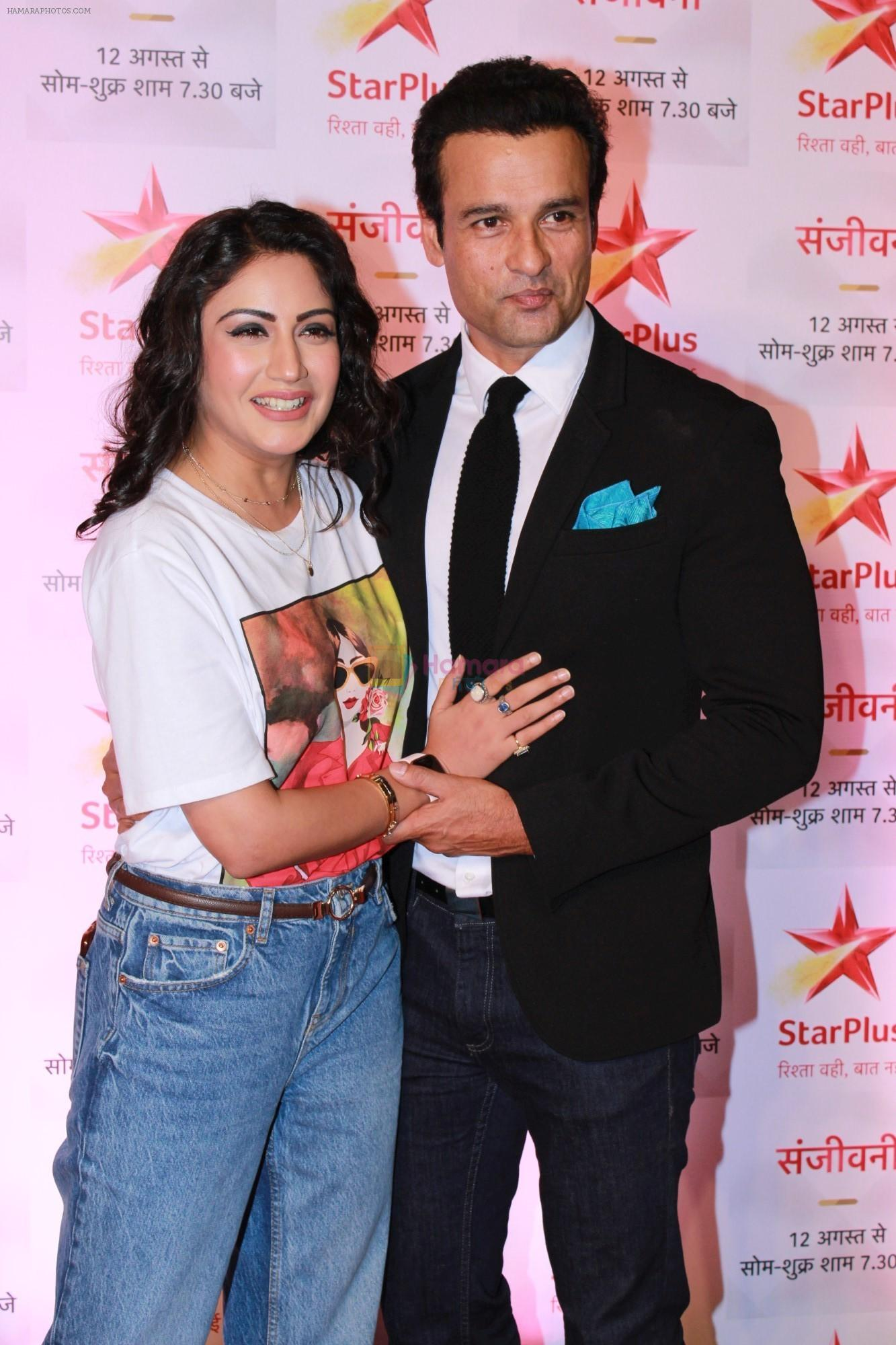 Surbhi Chandna, Rohit Roy at the Red Carpet of Star Plus serial Sanjivani 2 on 31st July 2019
