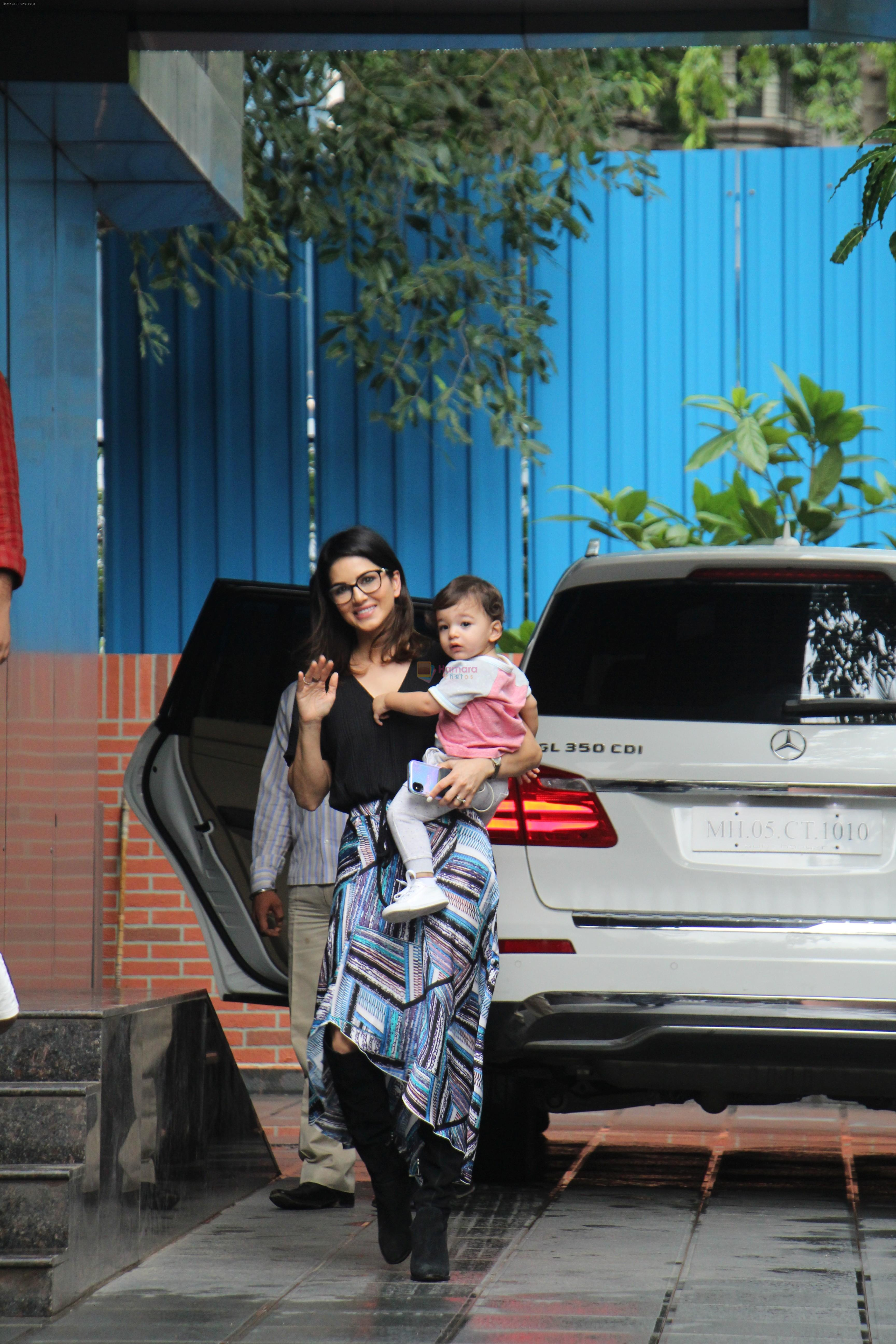 Sunny Leone with kids spotted at juhu on 1st Aug 2019