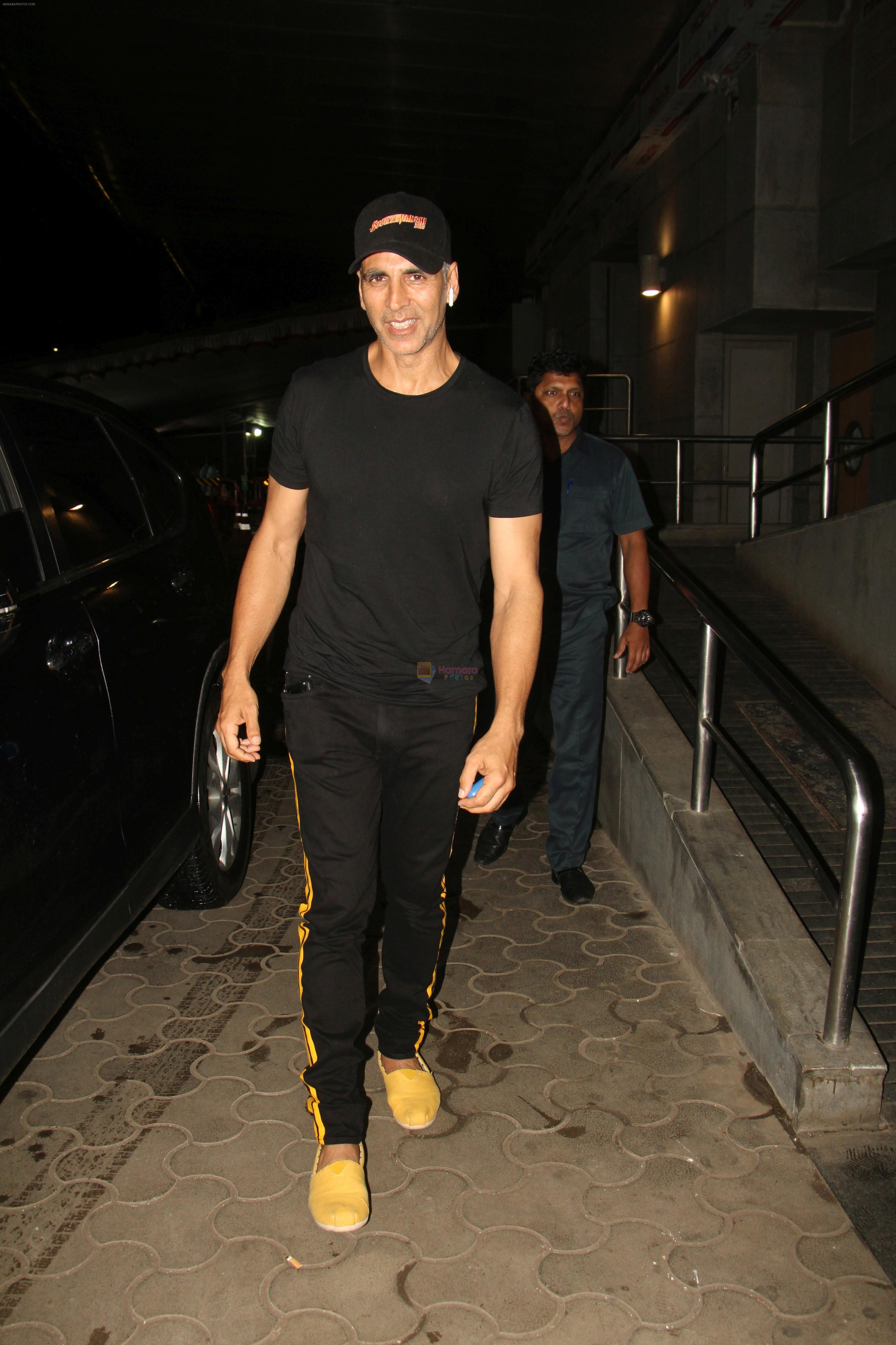 Akshay Kumar at the Screening of film Khandaani Shafakhana at pvr icon in andheri on 1st Aug 2019
