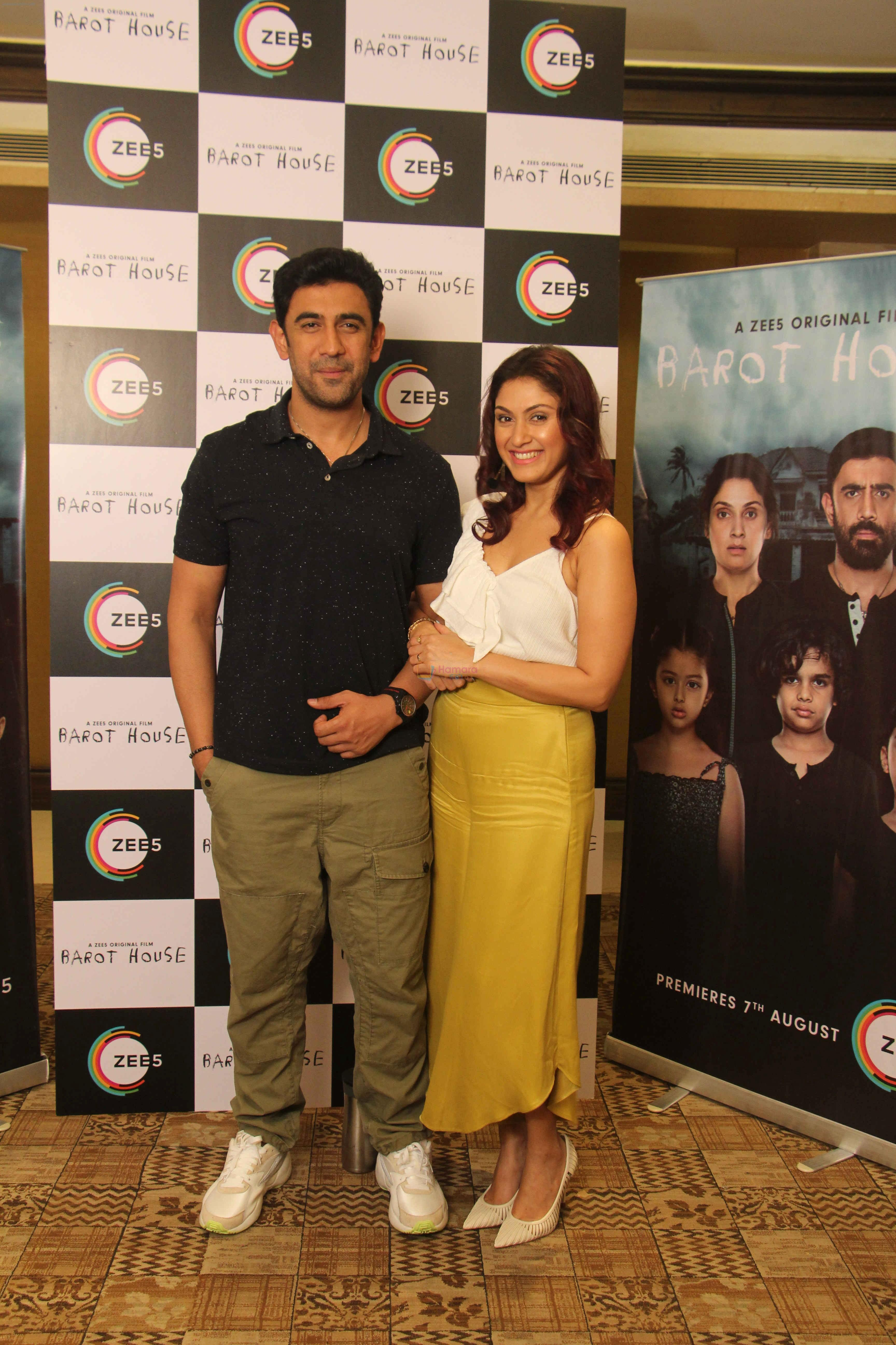 Amit Sadh, Manjari Phadnis at the Media interaction of Barot House on 4th Aug 2019