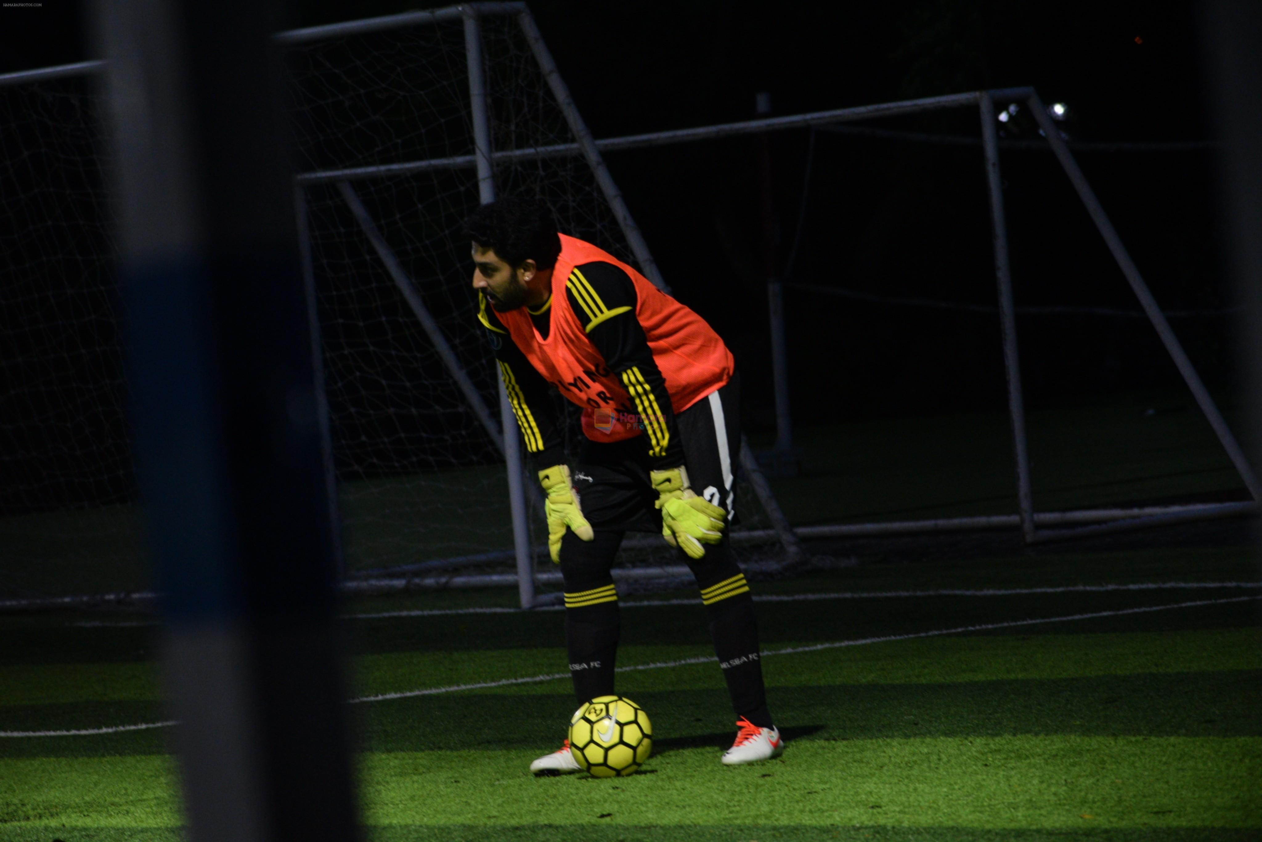Abhishek Bachchan spotted playing football at juhu on 4th Aug 2019