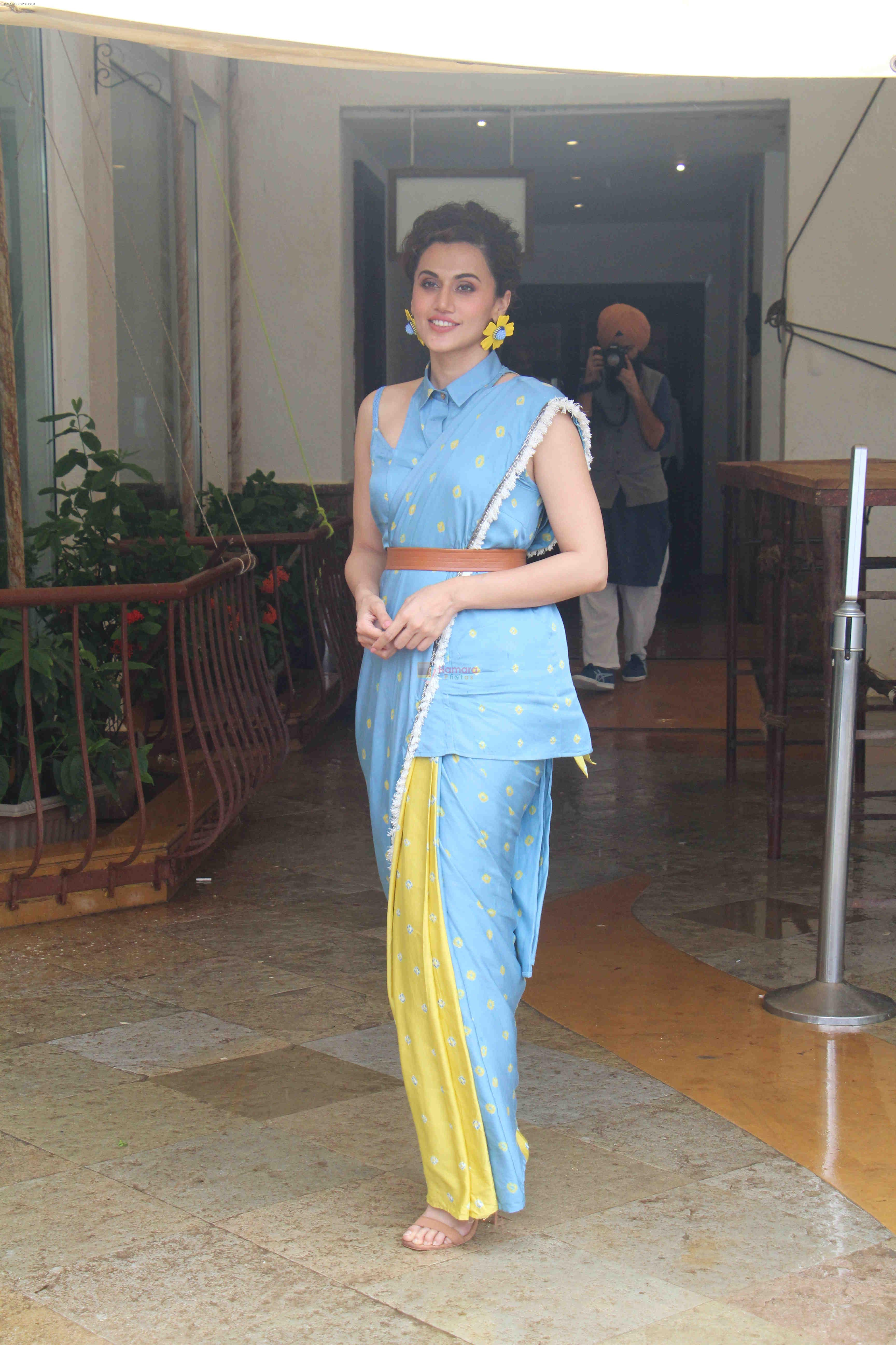 Tapsee Pannu at the media interactions for film Mission Mangal at Sun n Sand in juhu on 3rd Aug 2019