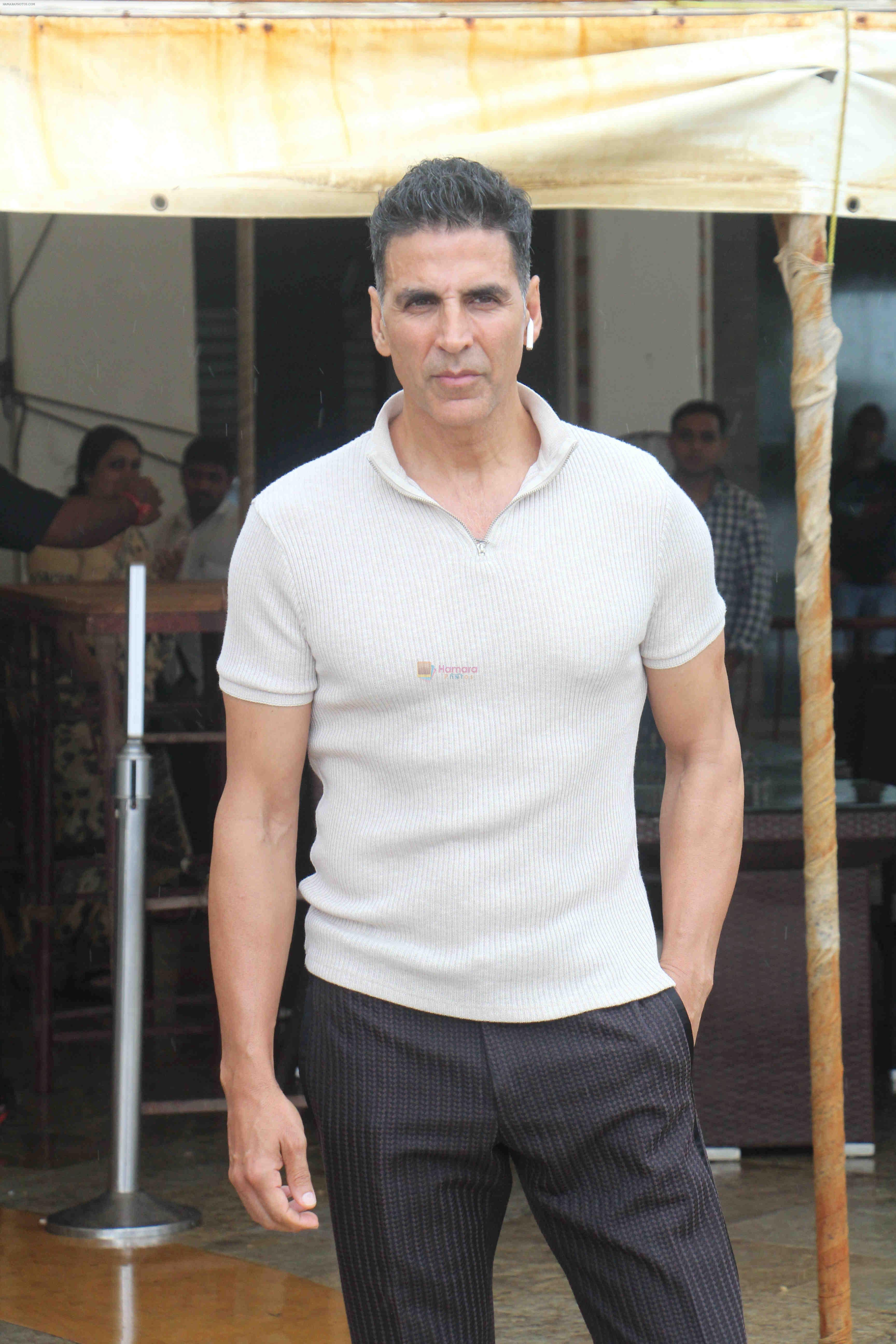 Akshay Kumar at the media interactions for film Mission Mangal at Sun n Sand in juhu on 3rd Aug 2019