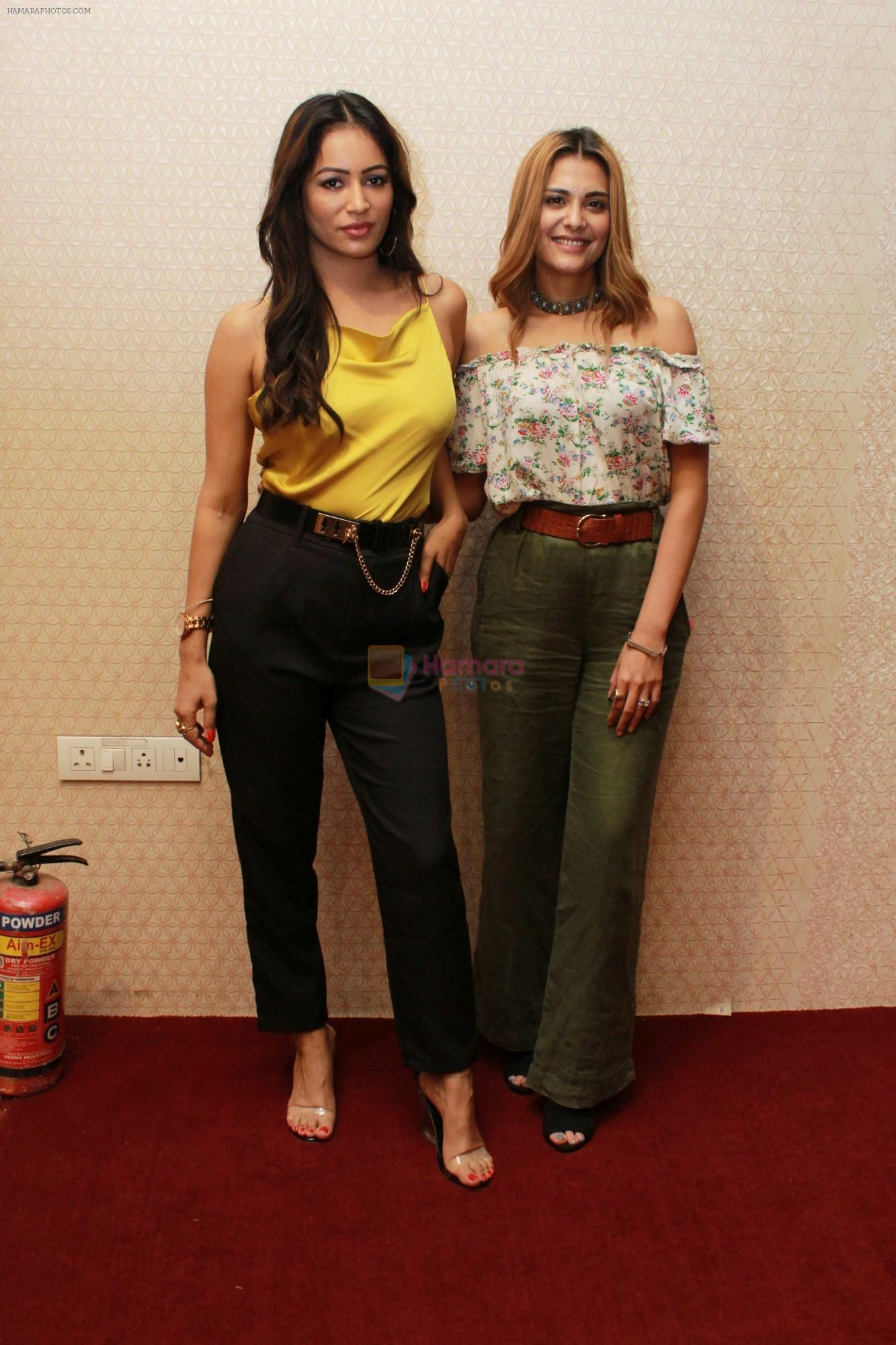 Nazia Hussain, Pooja Bisht at the promotions of Film Mushkil - Fear Behind on 6th Aug 2019