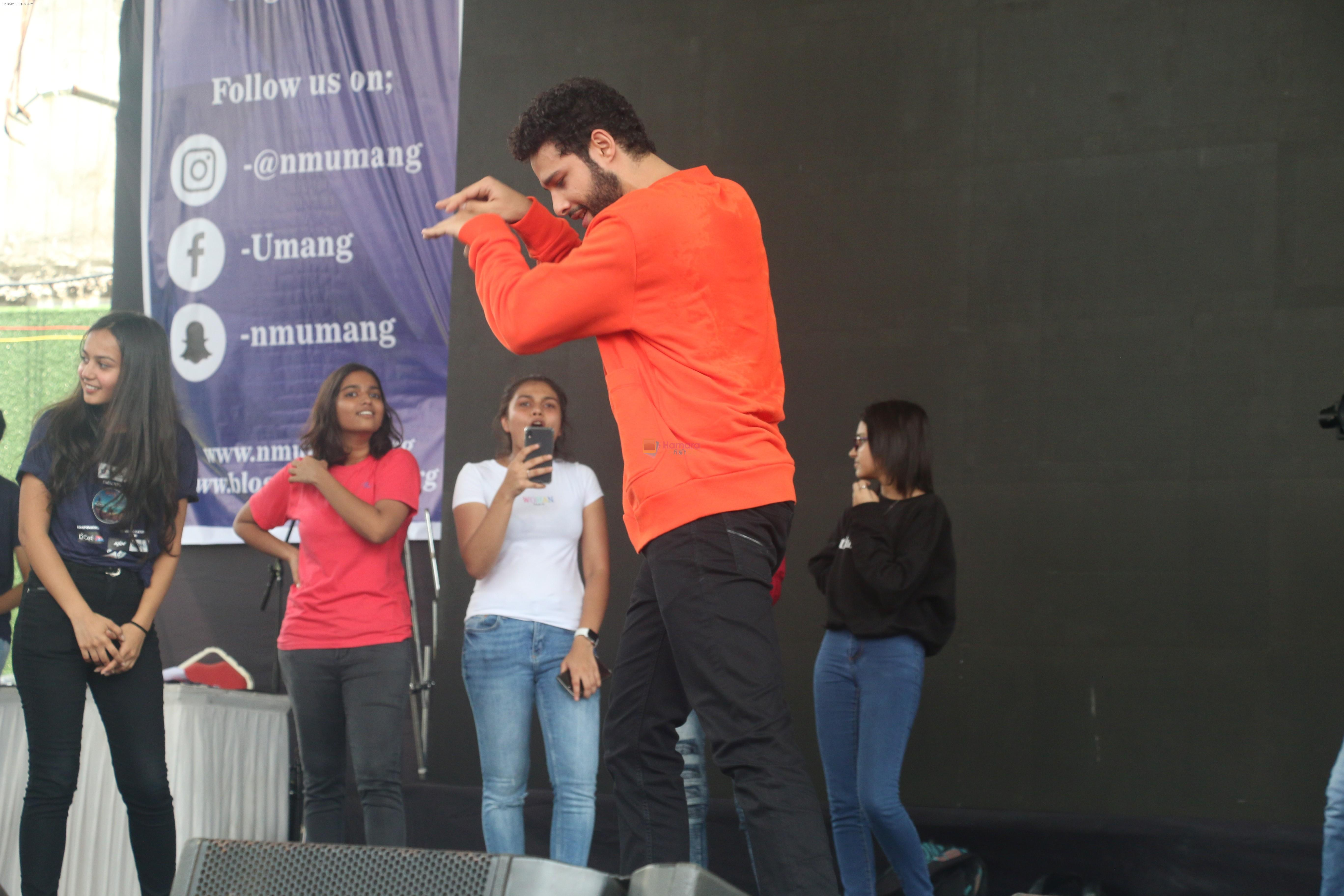 Siddhant Chaturvedi at the umang festival at Mithibai College in vile Parle on 19th Aug 2019