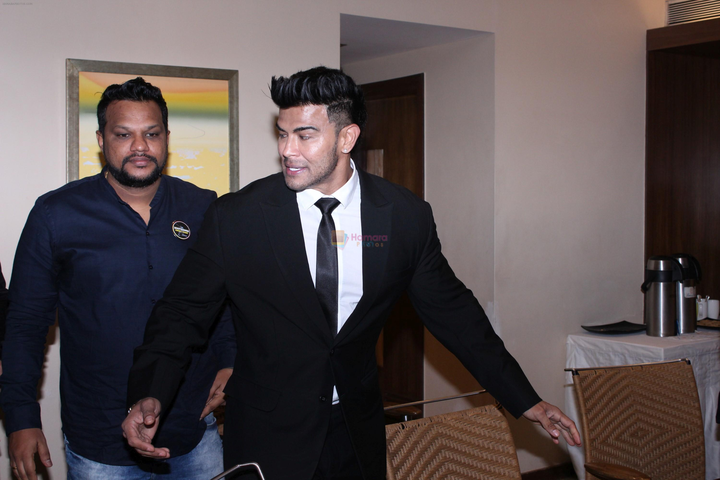 Sahil Khan At Launch of Bodypower Cricket League Auction on 18th Aug 2019