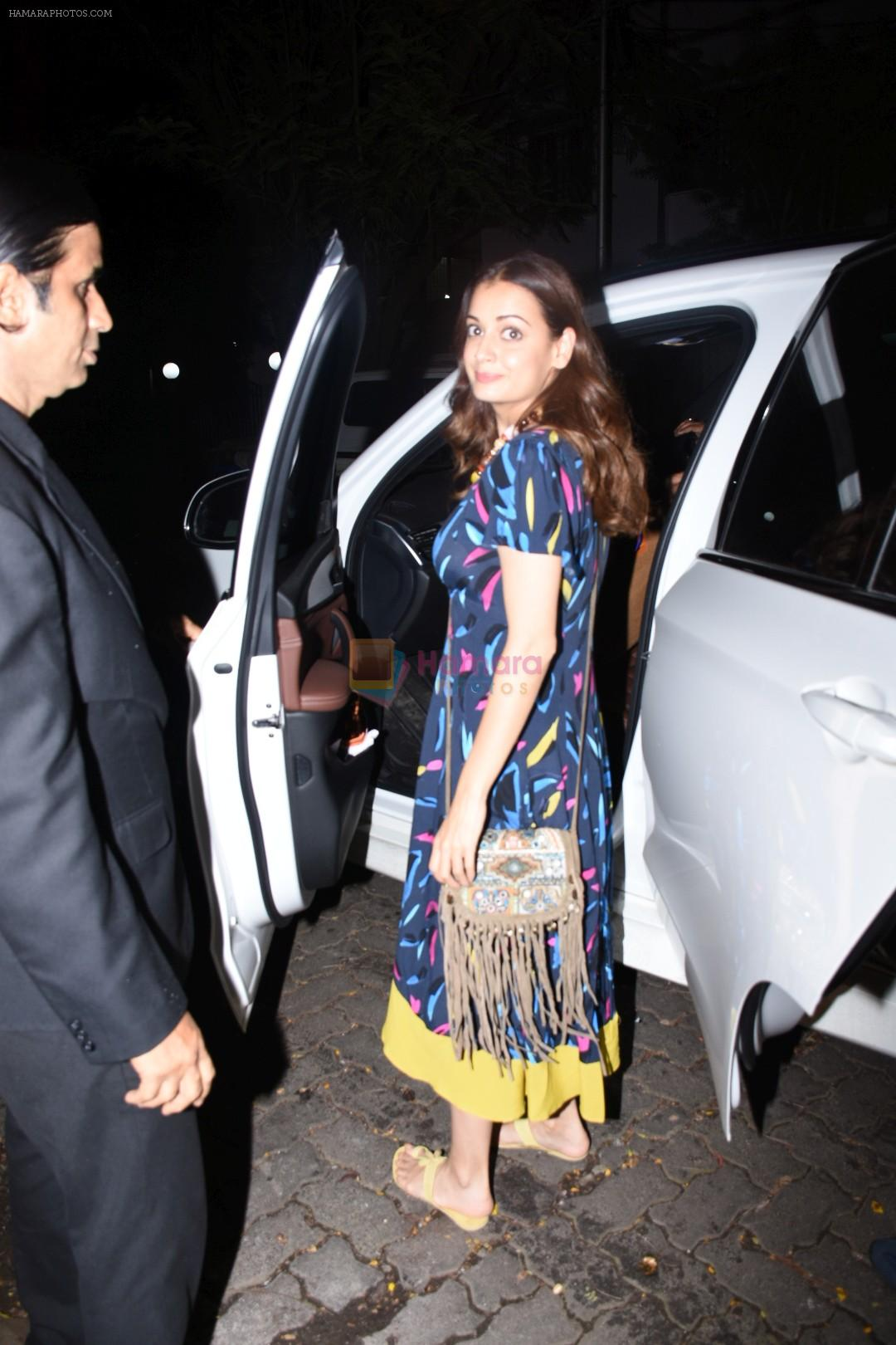 Dia Mirza spotted at Hakkasan in bandra on 19th Aug 2019