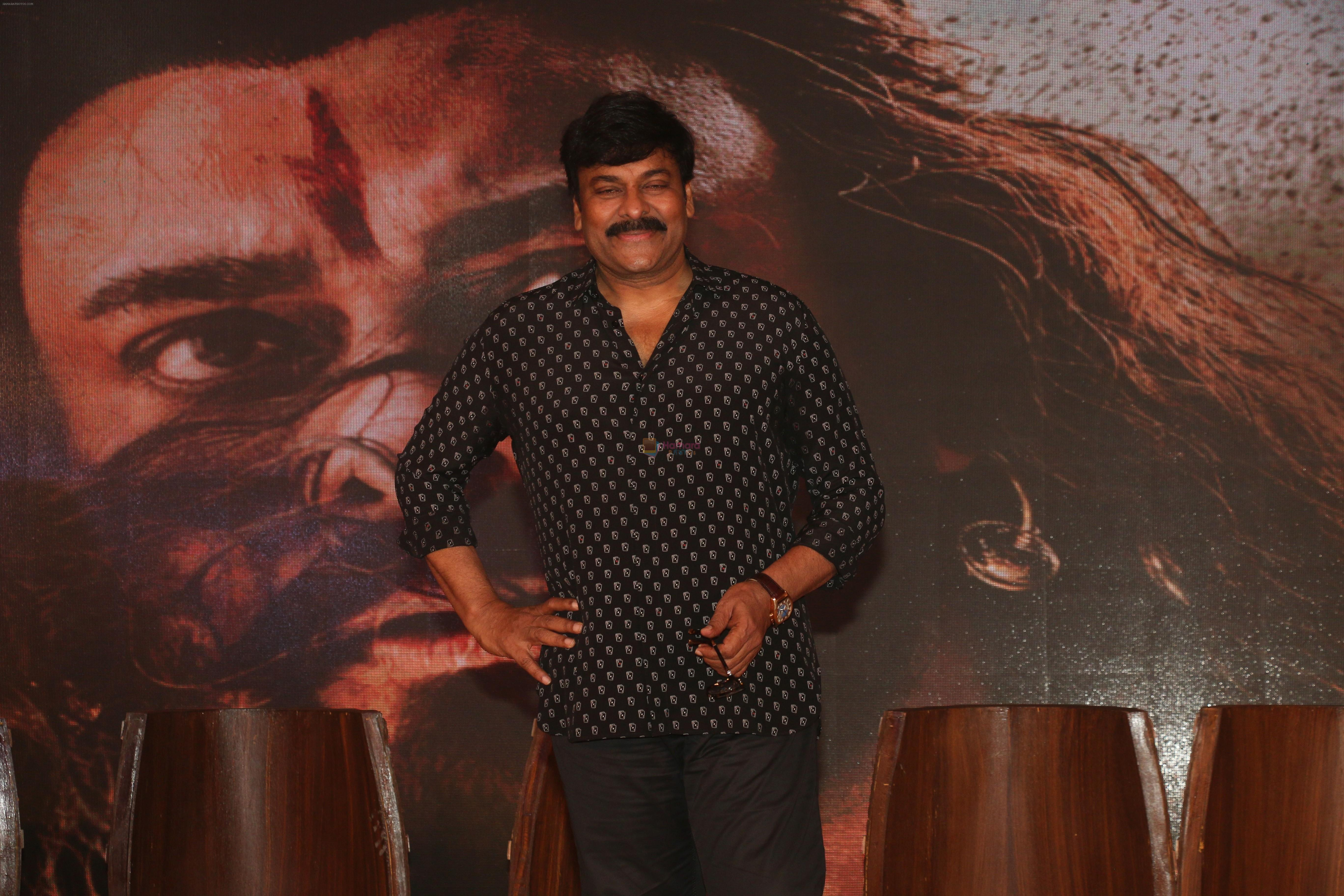 Chiranjeevi at the Trailer launch of film Sye Raa Narasimha Reddy in jw marriott juhu on 20th Aug 2019