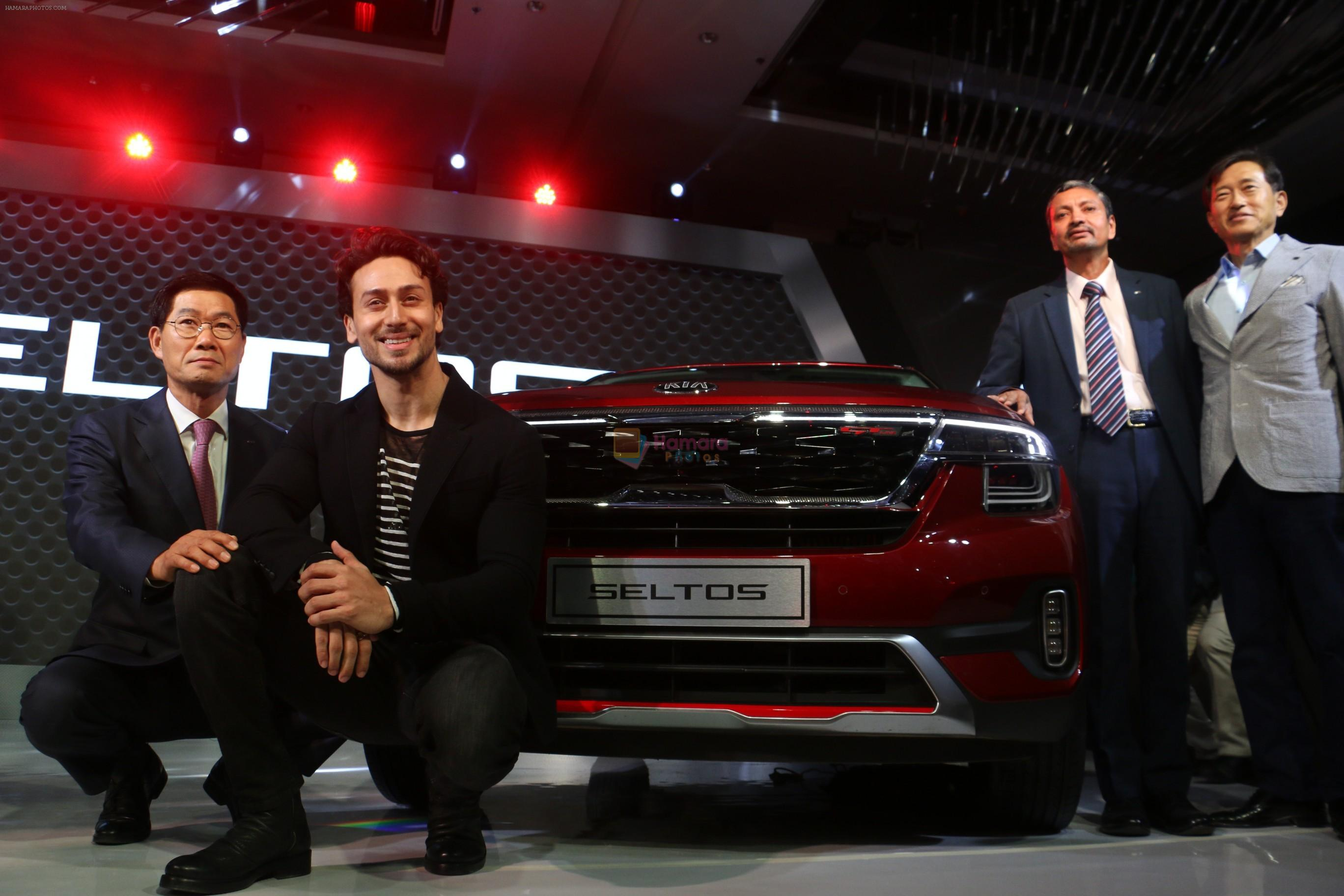 Tiger Shroff at the launch of Kia Seltos in jw marriott juhu on 22nd Aug 2019