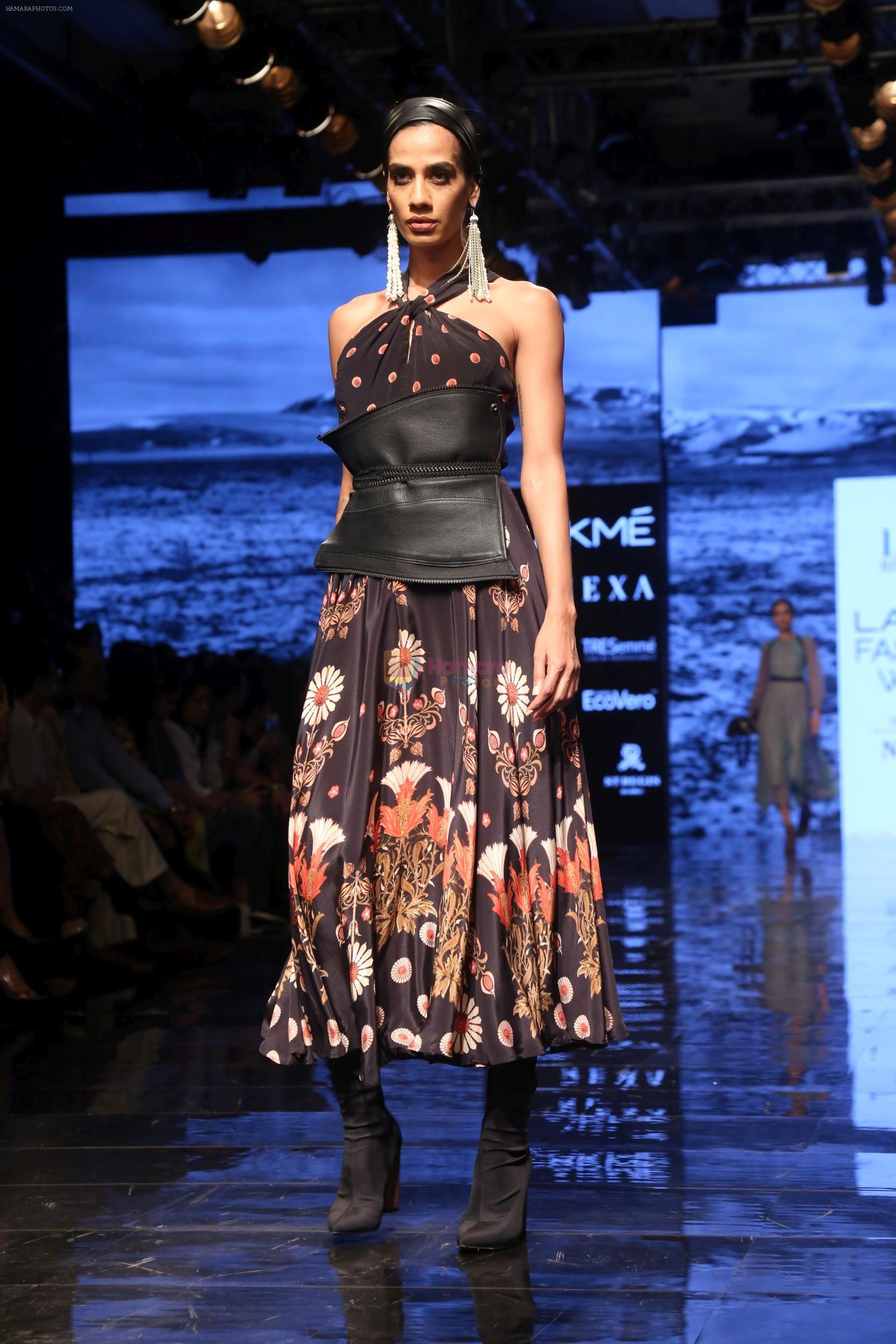 Model walk the ramp for Ritu Kumar at Lakme Fashion Week Day 3 on 23rd Aug 2019