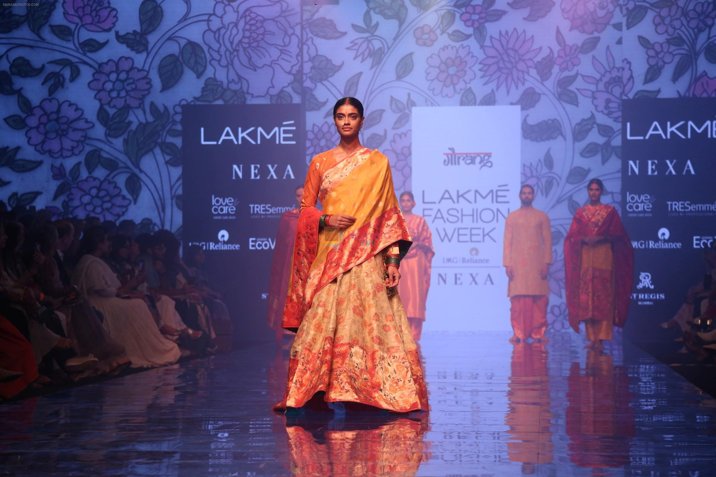Model walk the ramp for Gaurang Designer at Lakme Fashion Week Day 3 on 23rd Aug 2019