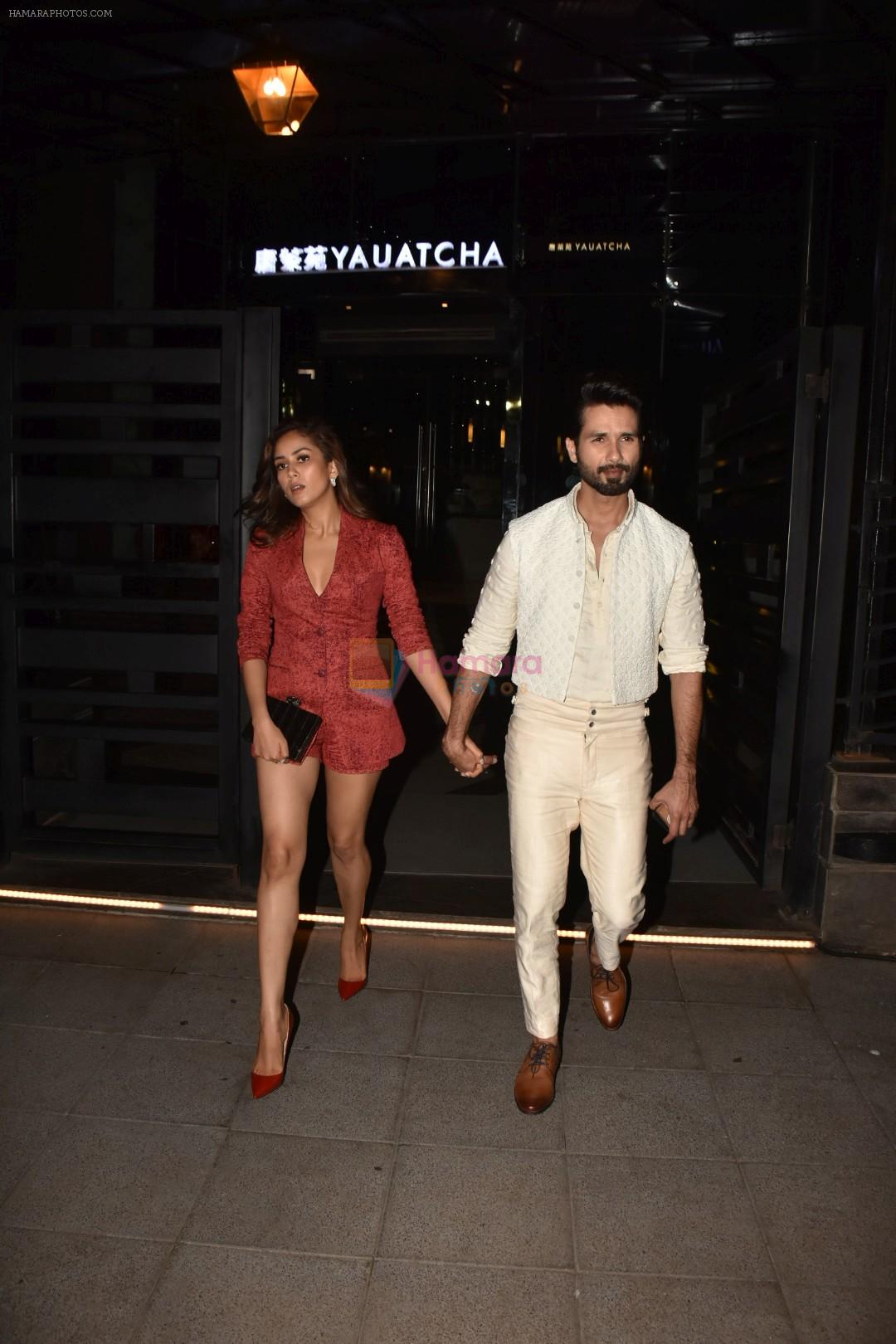 Shahid Kapoor & Mira Rajput spotted at bkc on 24th Aug 2019