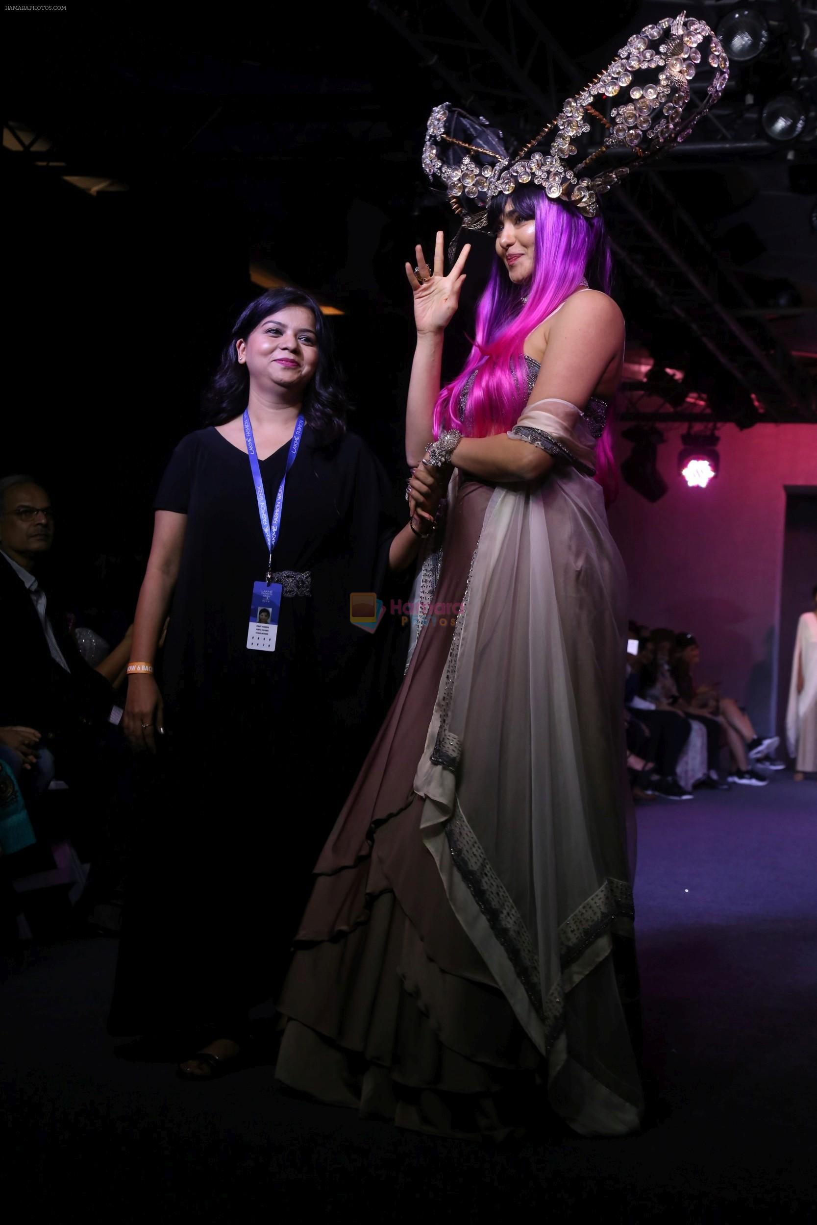 Adah Sharma walk the ramp for Pinkey Agarwal at LFW 2019 on 24th Aug 2019