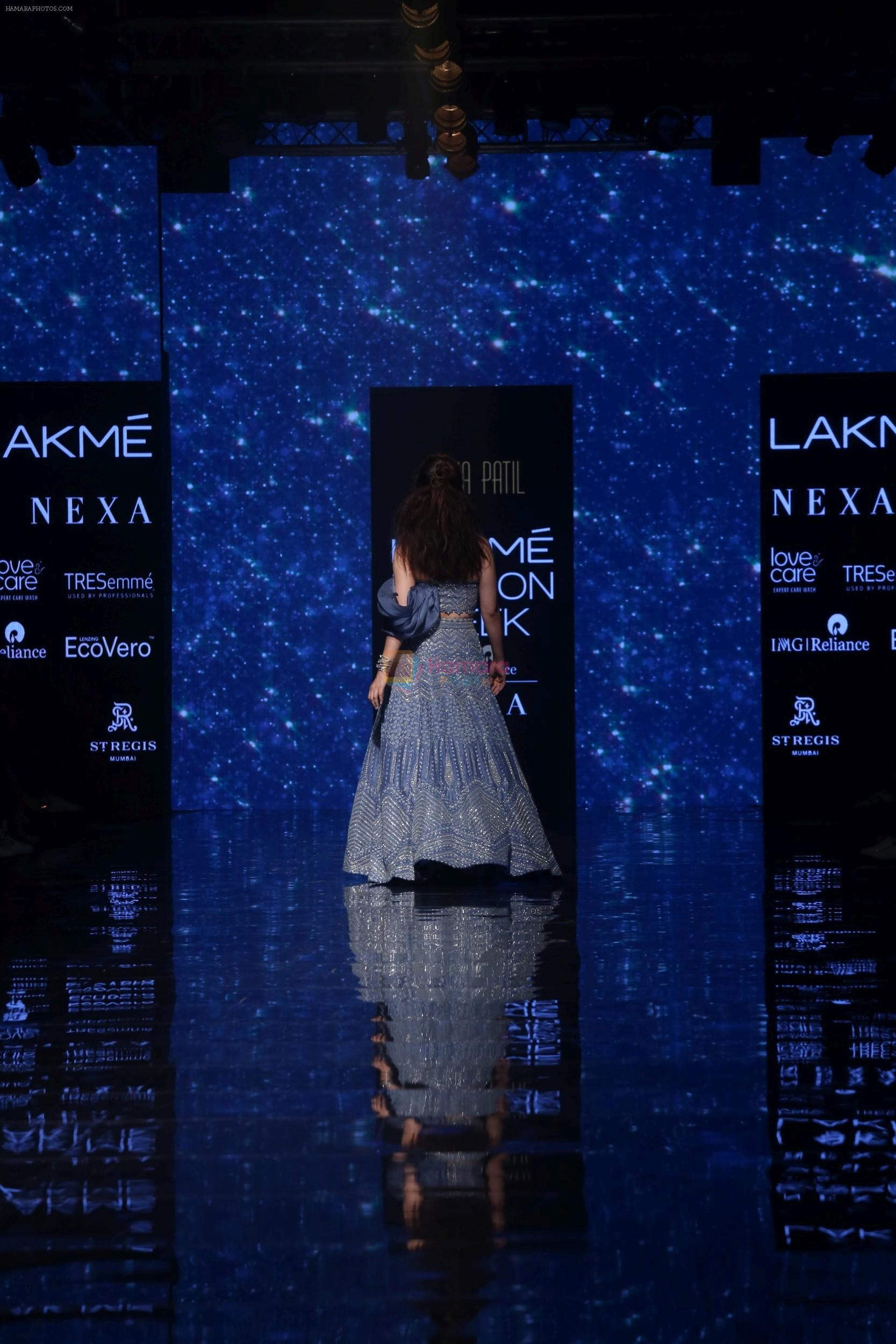 Kangana Ranaut walk the ramp for Disha Patil At lakme fashion week 2019 on 25th Aug 2019