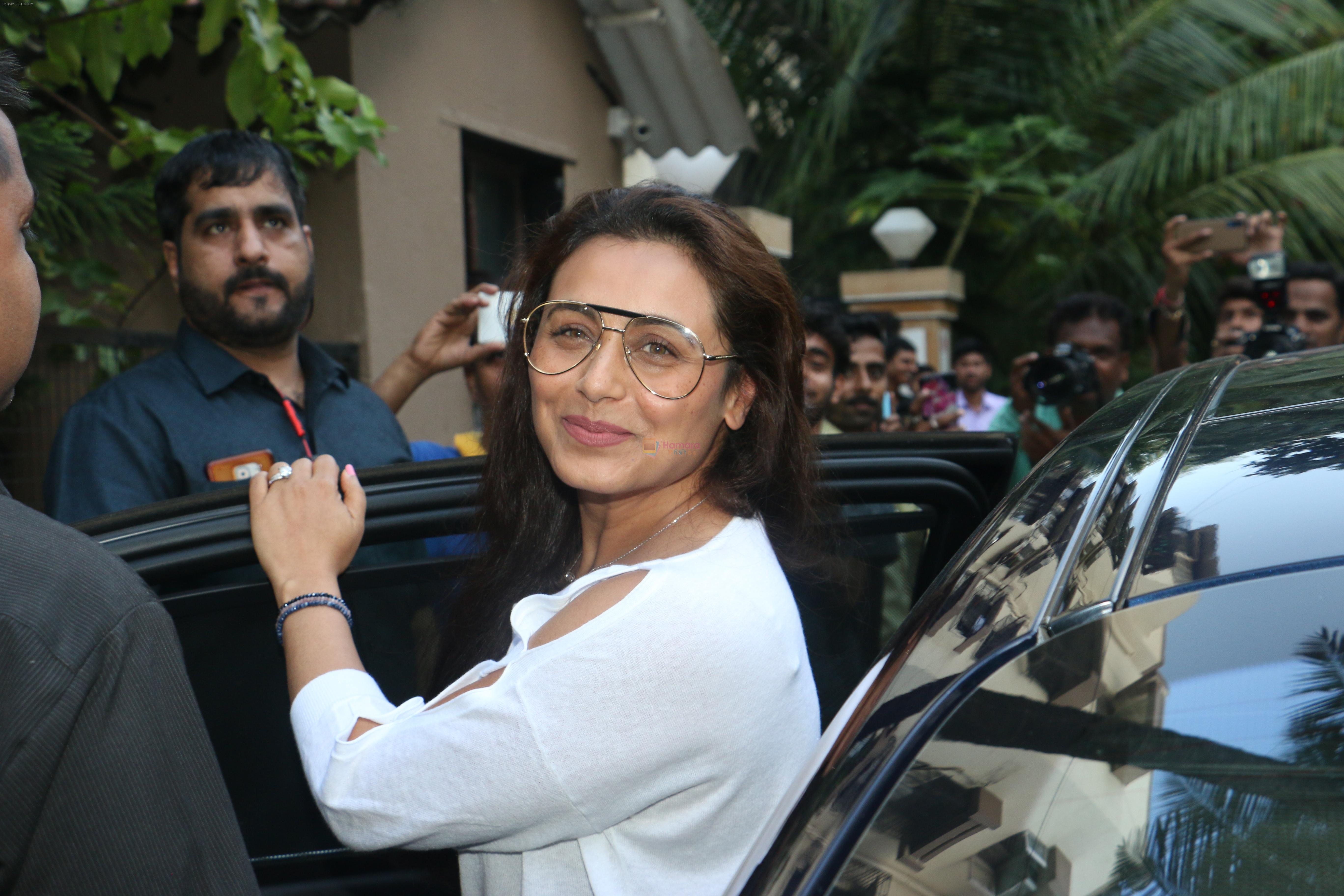 Rani Mukerji at Shahid Kapoor & Mira Rajput's daughter Misha birthday party in juhu on 26th Aug 2019