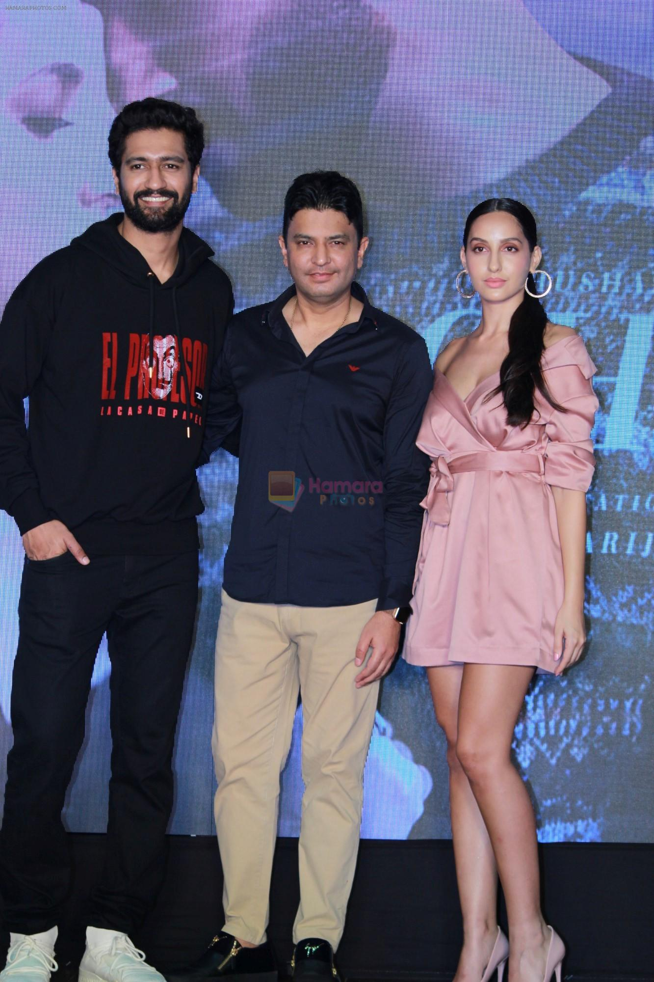 Vicky Kaushal, Nora Fatehi, Bhushan Kumar Celebrate The Success Of Single Song Pachtaoge on 27th Aug 2019