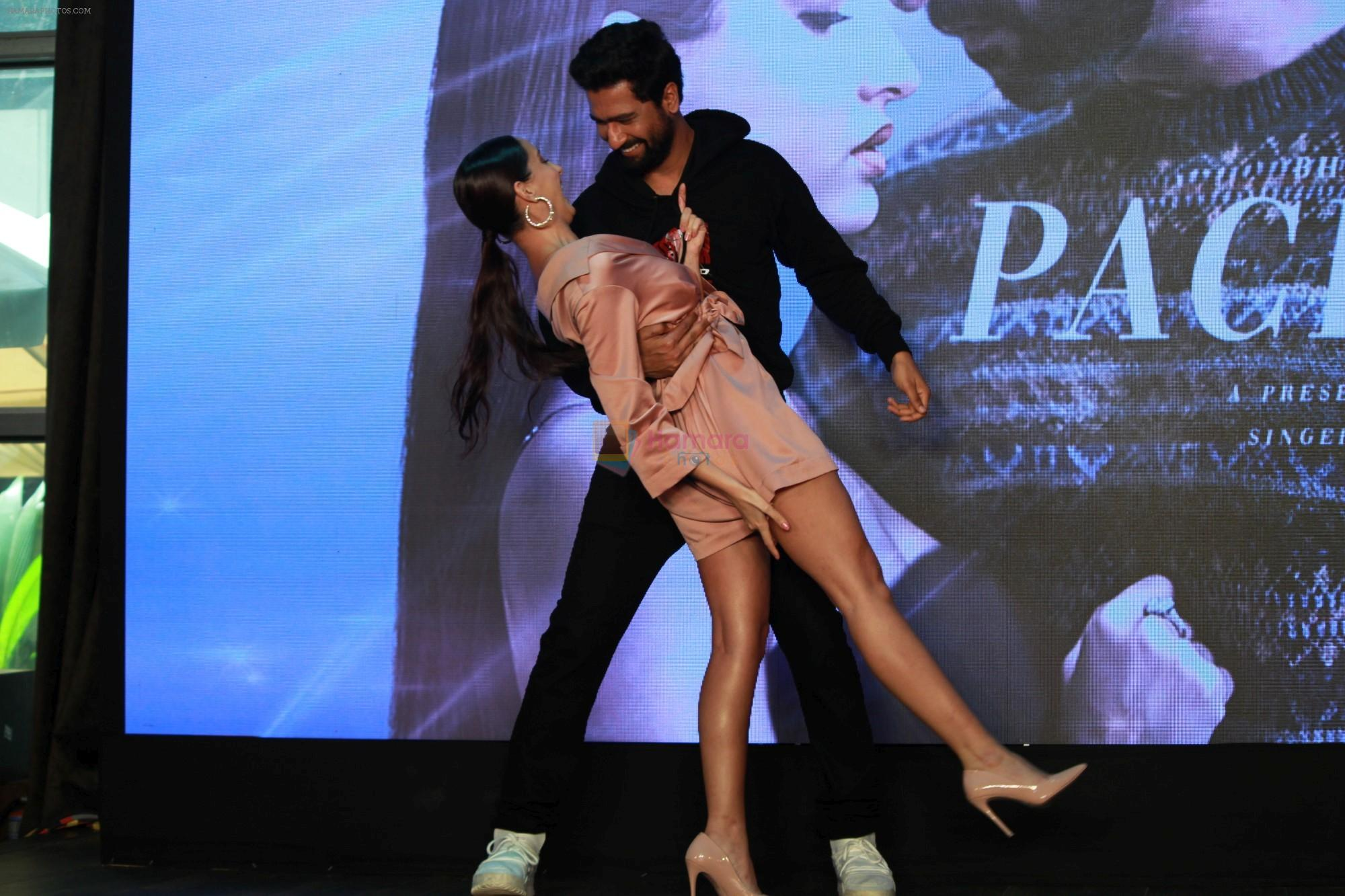 Vicky Kaushal, Nora Fatehi Celebrate The Success Of Single Song Pachtaoge on 27th Aug 2019