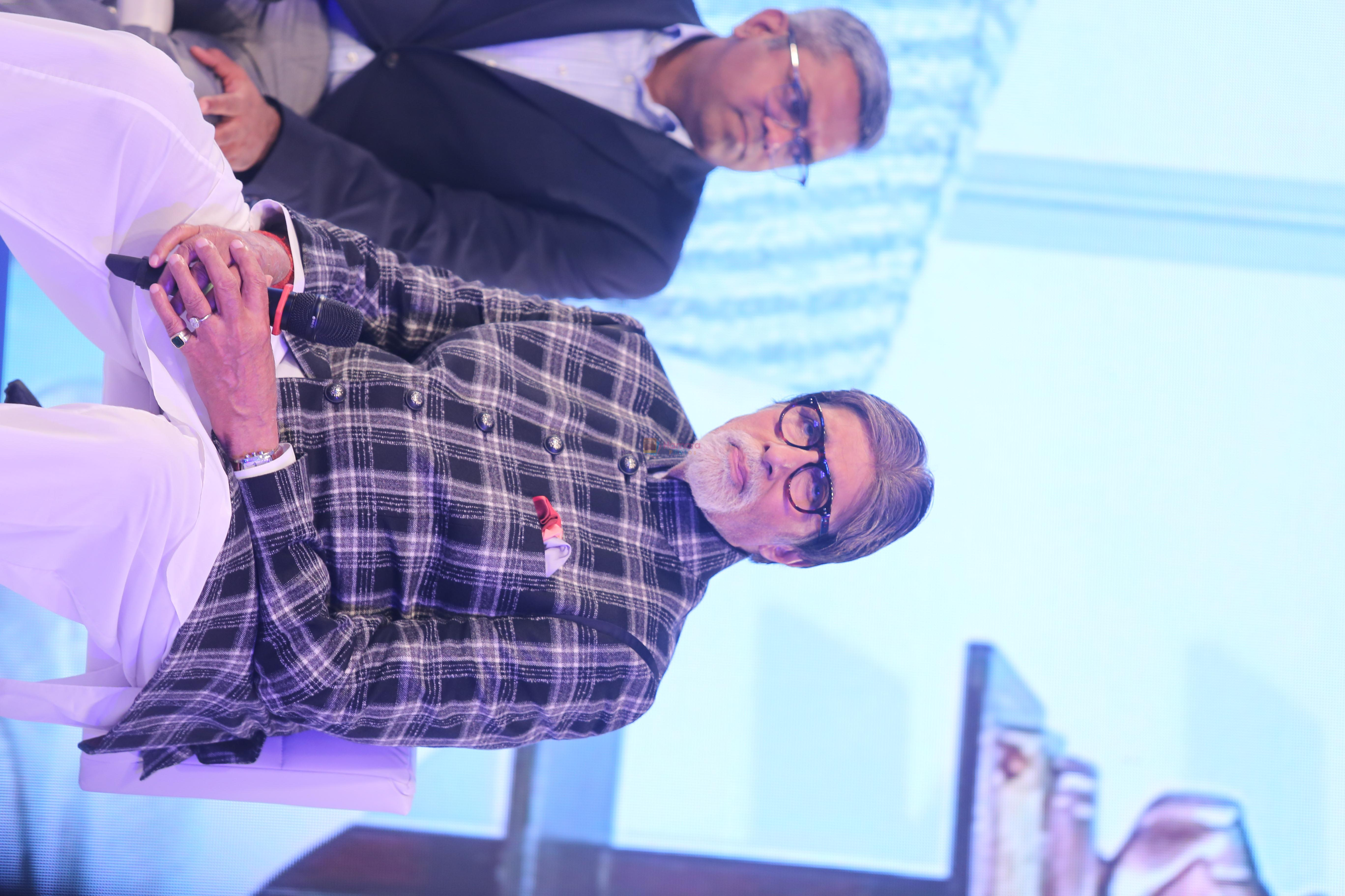 Amitabh Bachchan & Nitin Gadkari at the launch of network 18 Mission Pani at jw marriott juhu on 26th Aug 2019