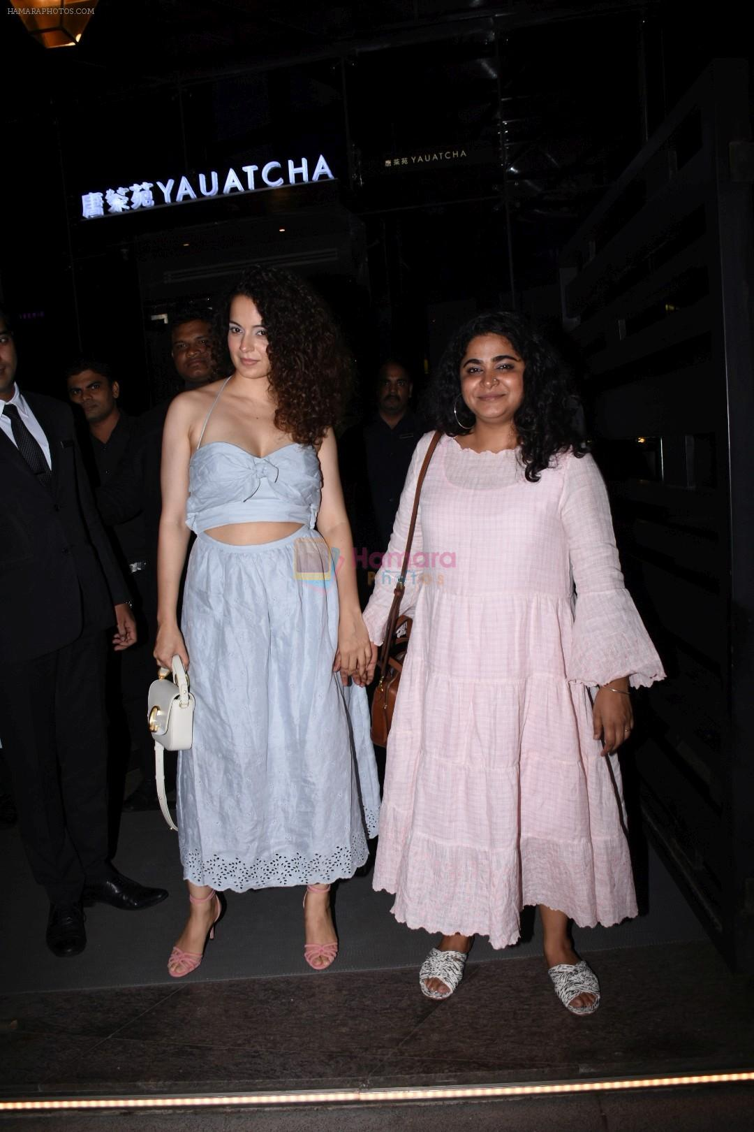 Kangana Ranaut spotted at yautcha bkc on 28th Aug 2019