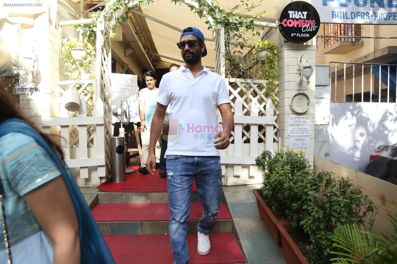 Vicky Kaushal spotted at smoke house in bandra on 28th Aug 2019