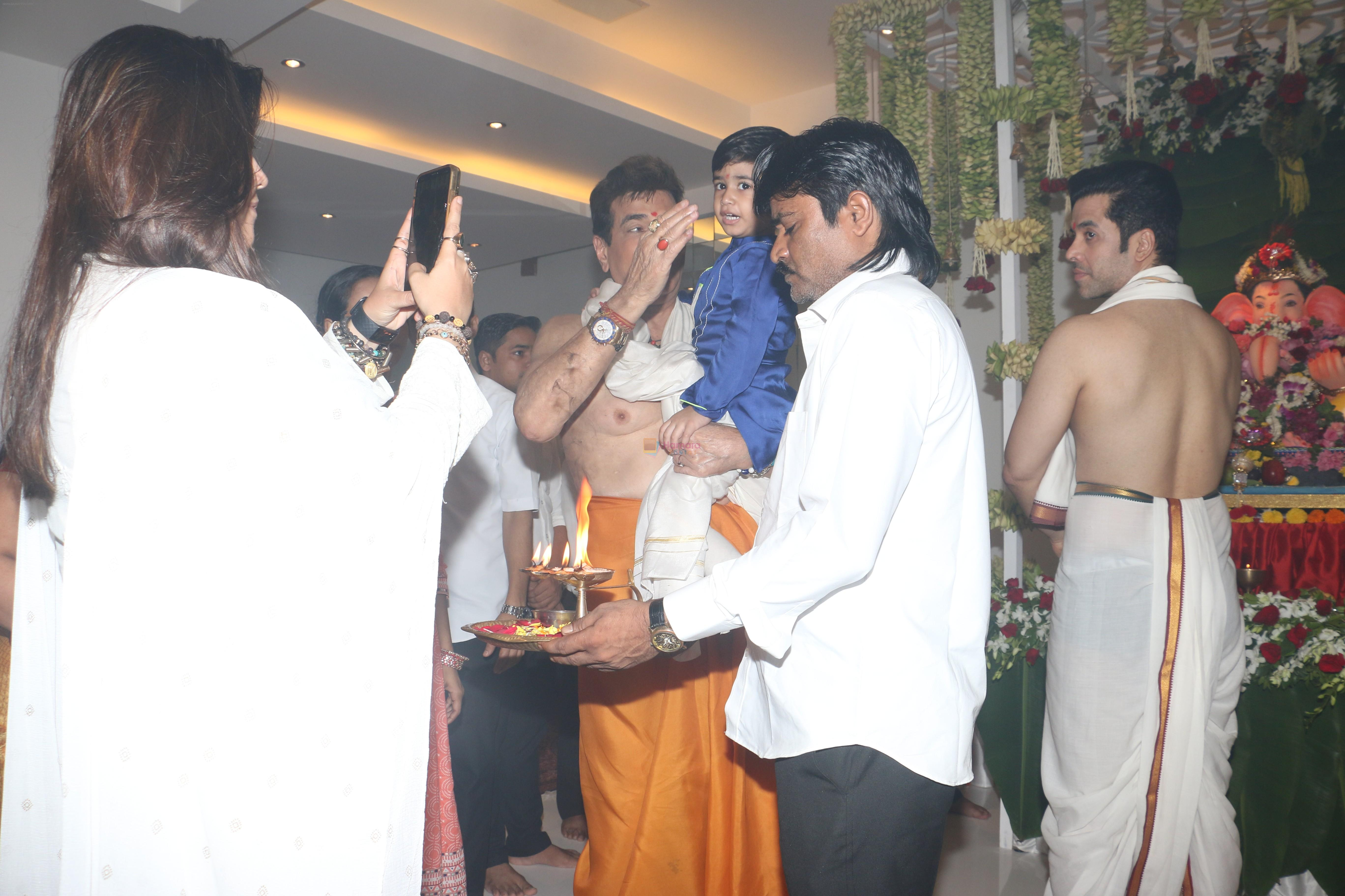 Jeetendra's Ganpati celebration at his house on 2nd Sept 2019