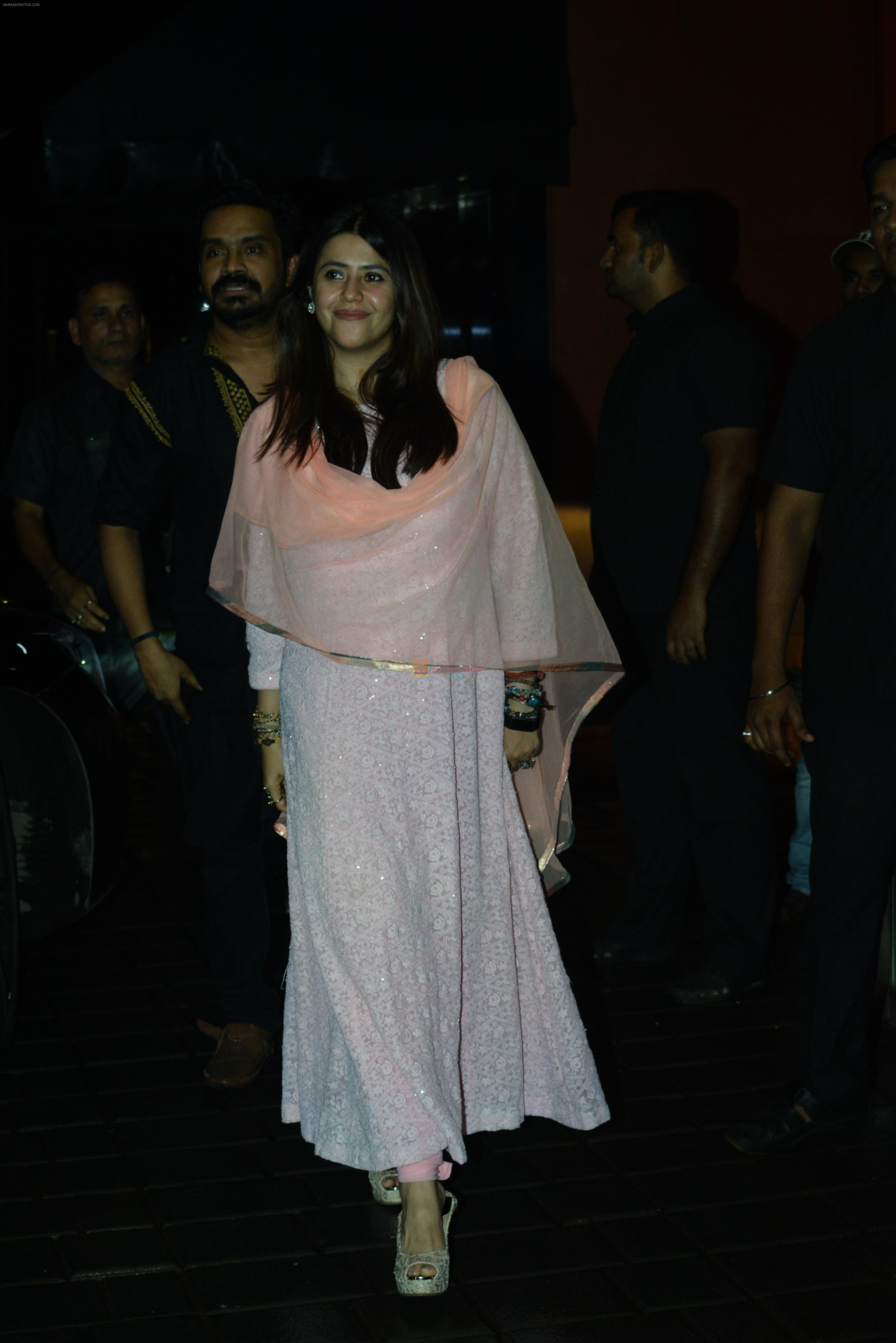 Ekta Kapoor at Arpita Khan's home for Ganesh Chaturthi on 2nd Sept 2019