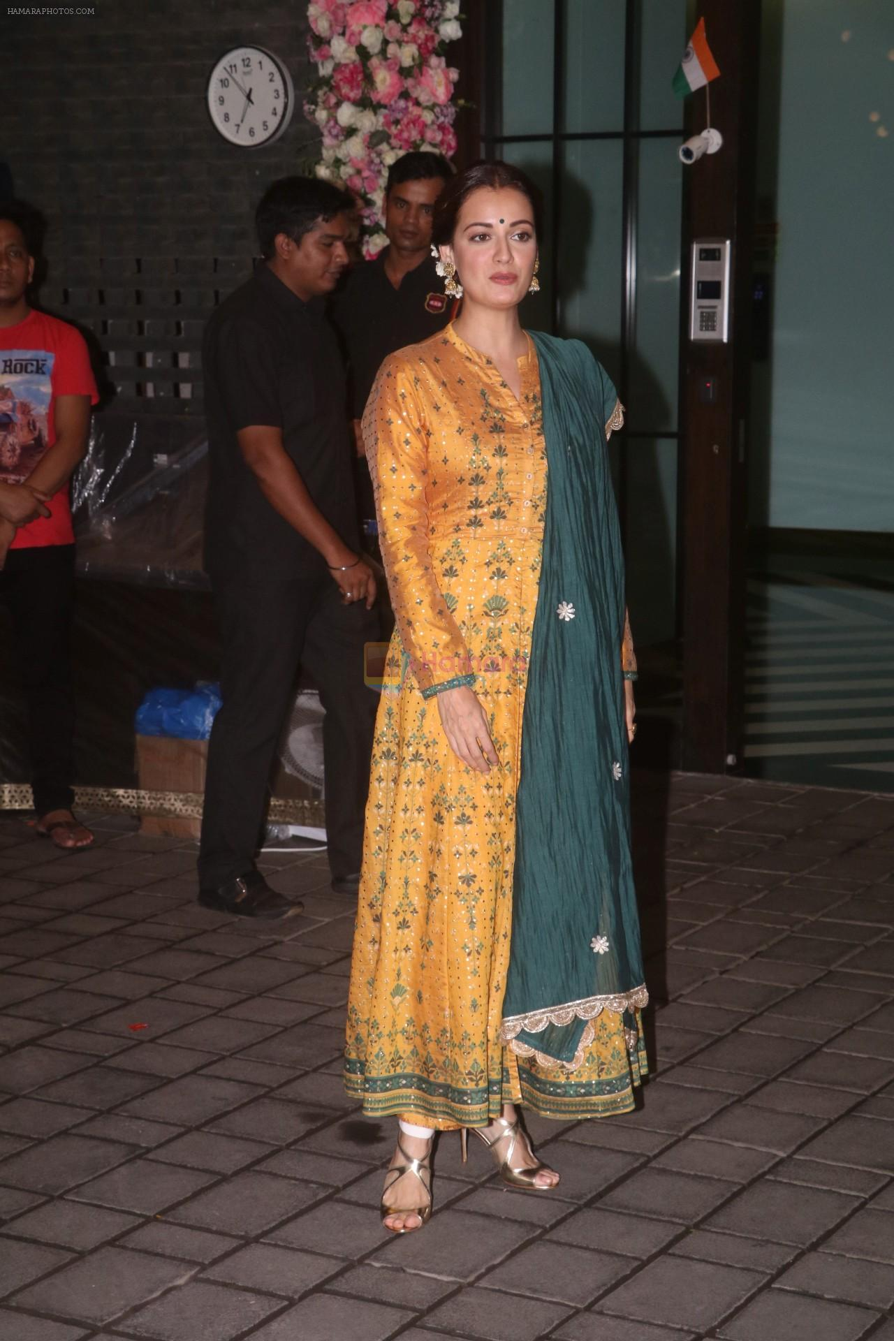Dia Mirza at Arpita Khan's home for Ganesh Chaturthi on 2nd Sept 2019