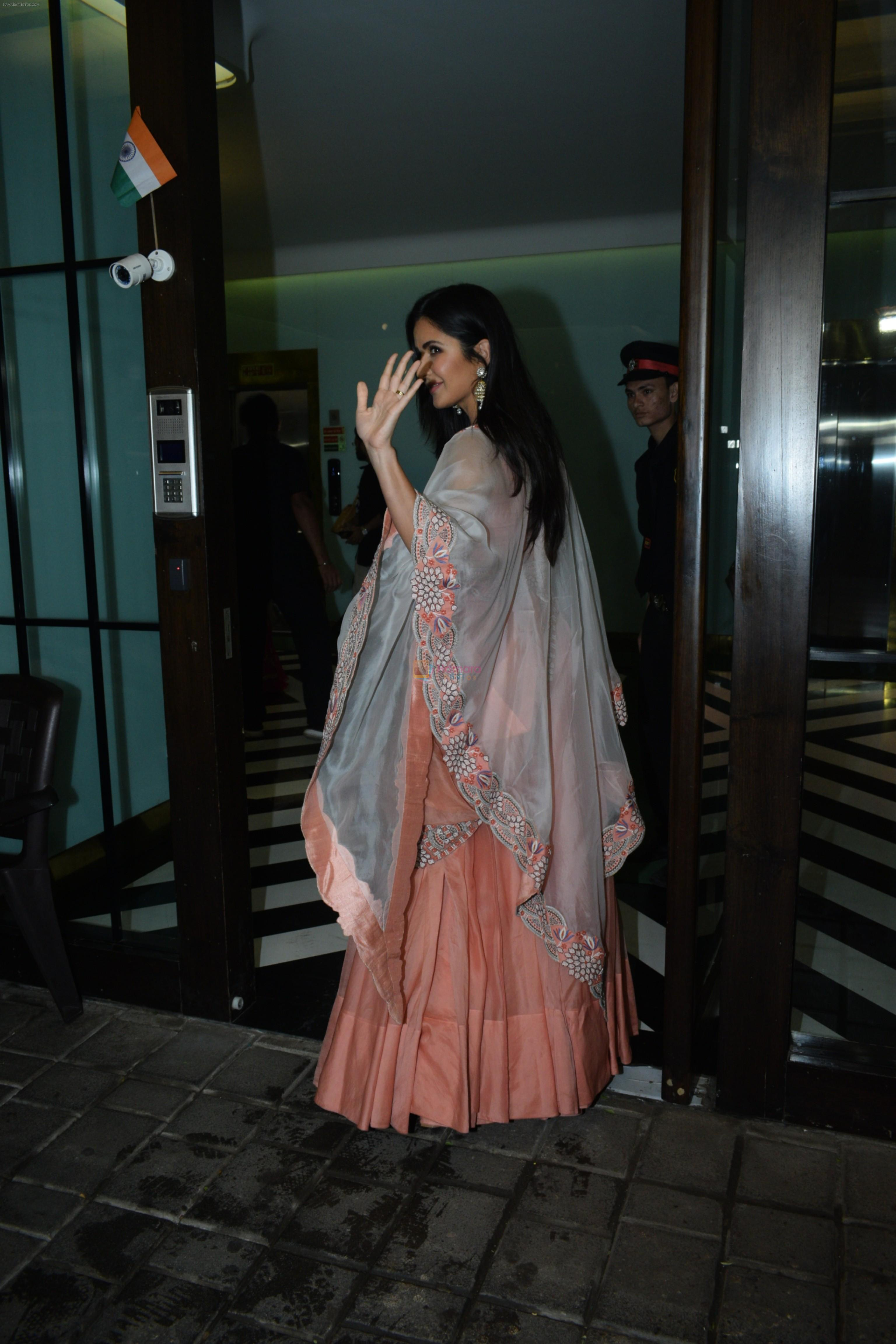 Katrina Kaif at Arpita Khan's home for Ganesh Chaturthi on 2nd Sept 2019