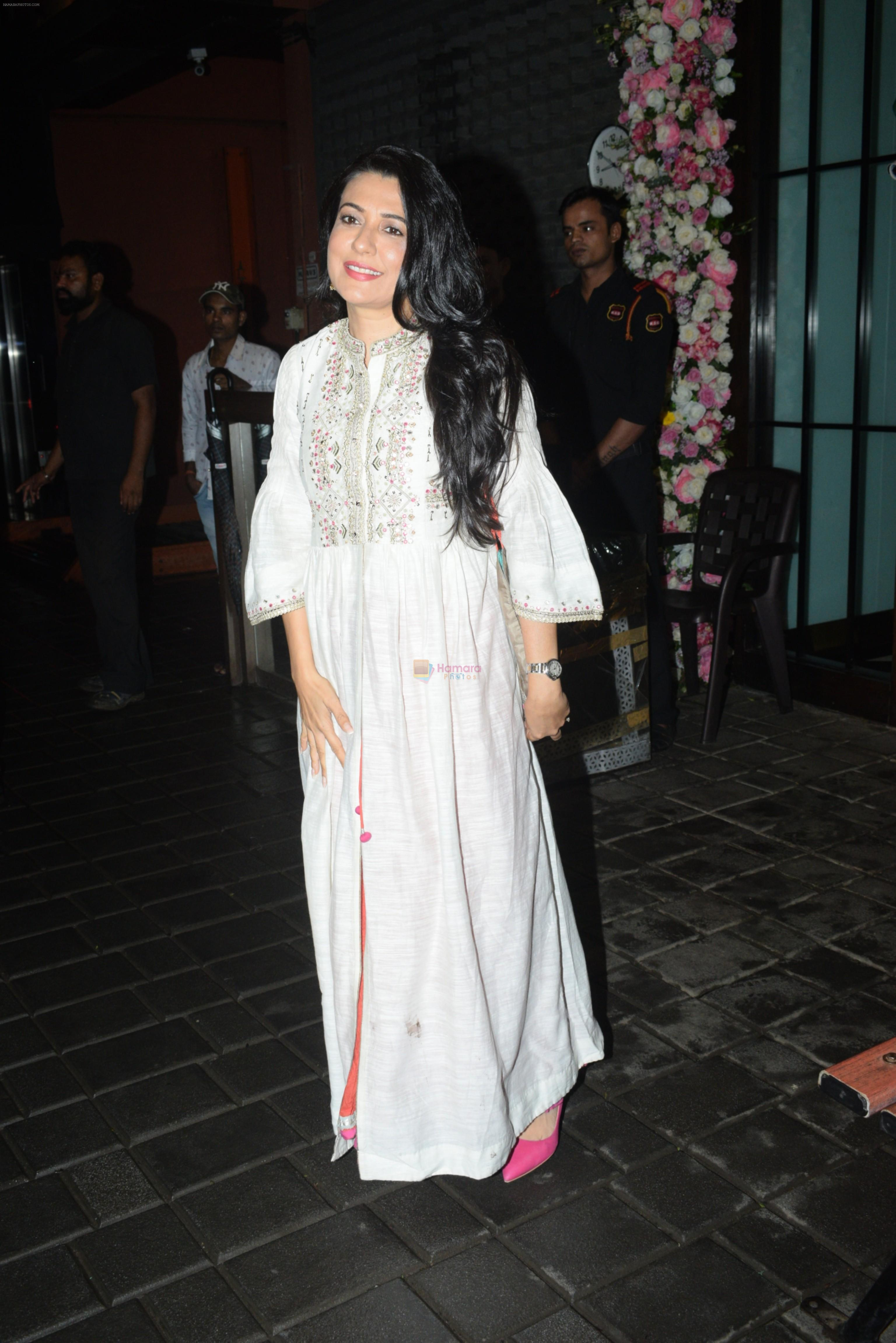 Mini Mathur at Arpita Khan's home for Ganesh Chaturthi on 2nd Sept 2019