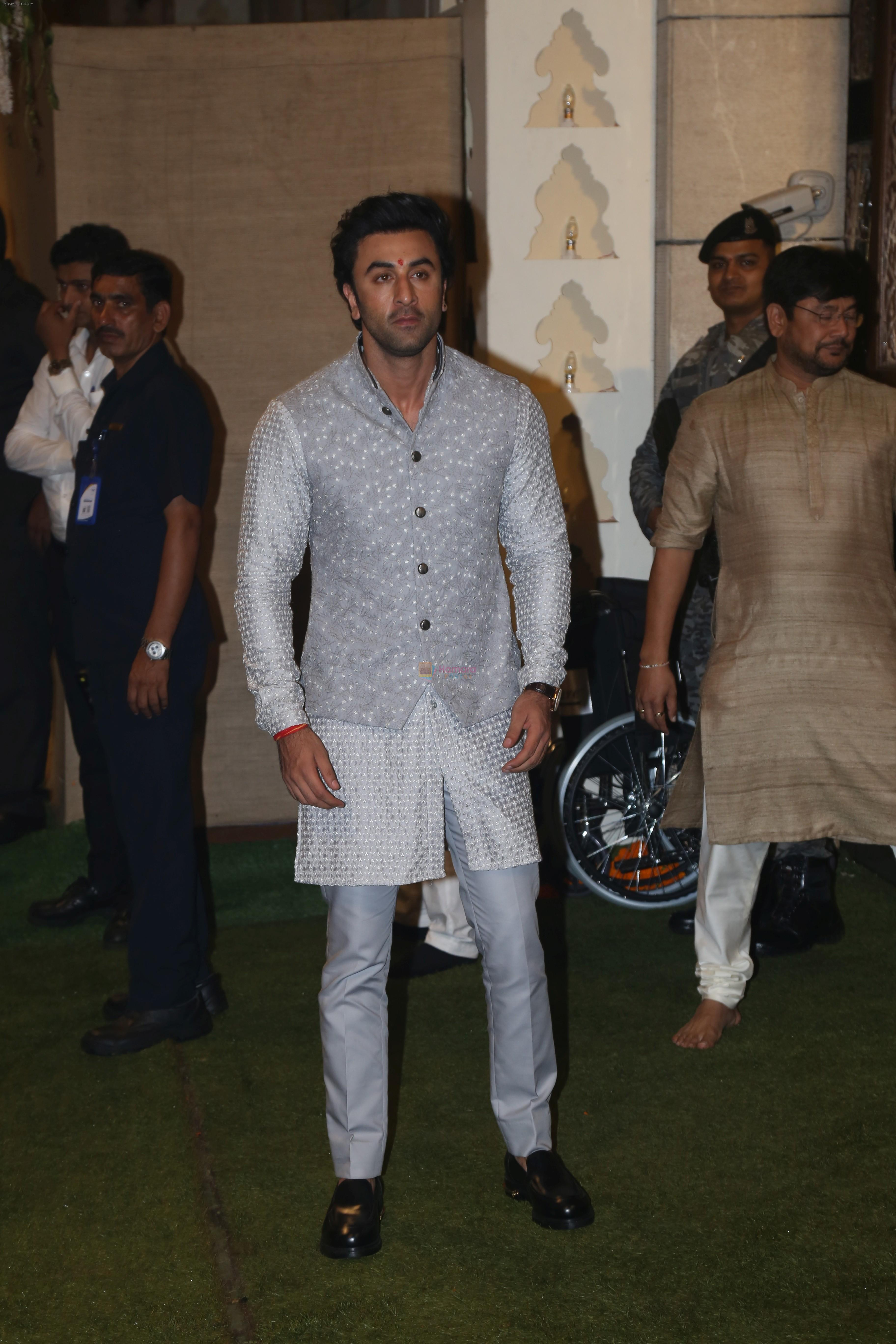 Ranbir Kapoor at Mukesh Ambani's house for Ganpati celebration on 2nd Sept 2019
