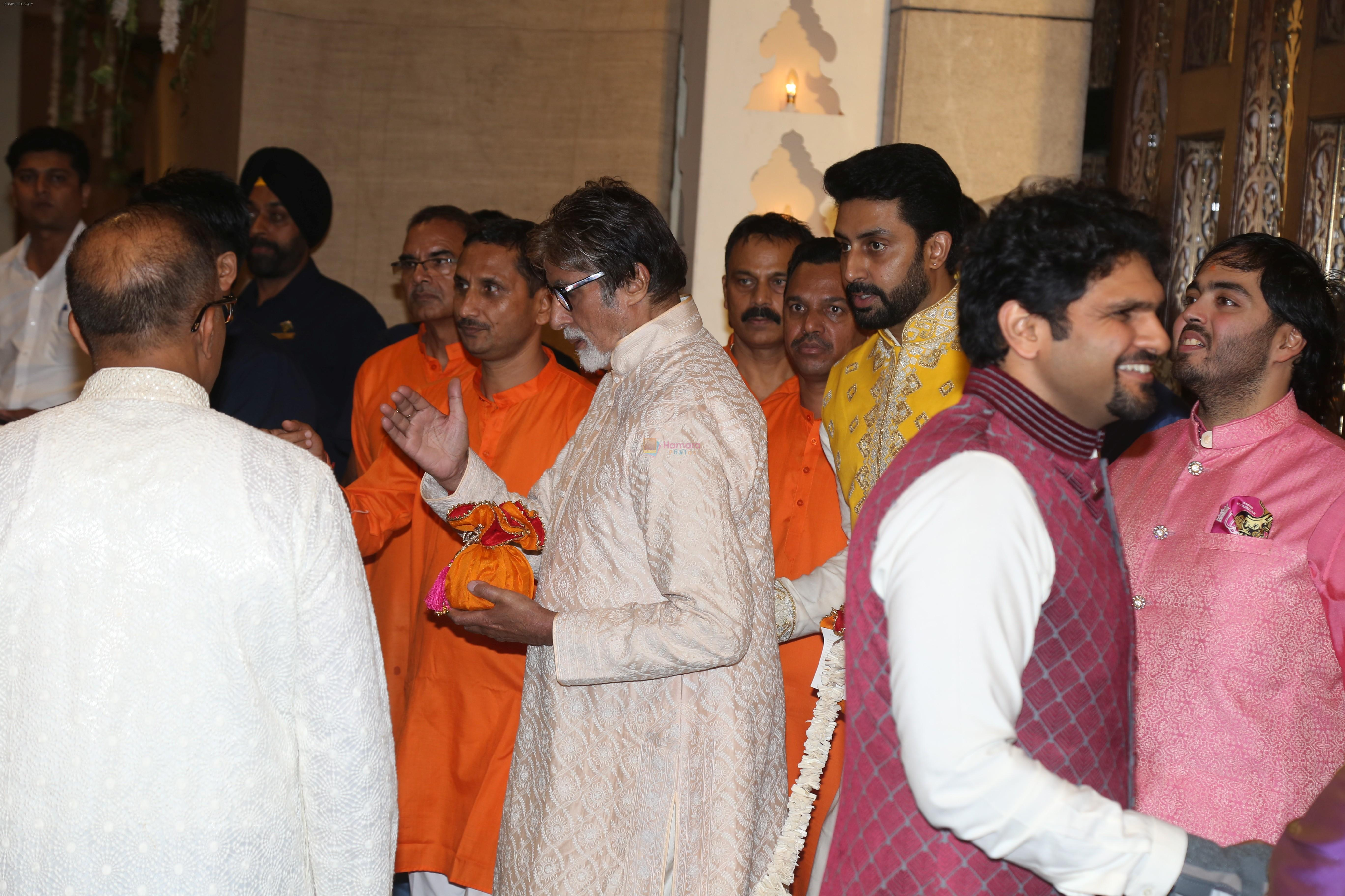 Amitabh Bachchan at Mukesh Ambani's house for Ganpati celebration on 2nd Sept 2019