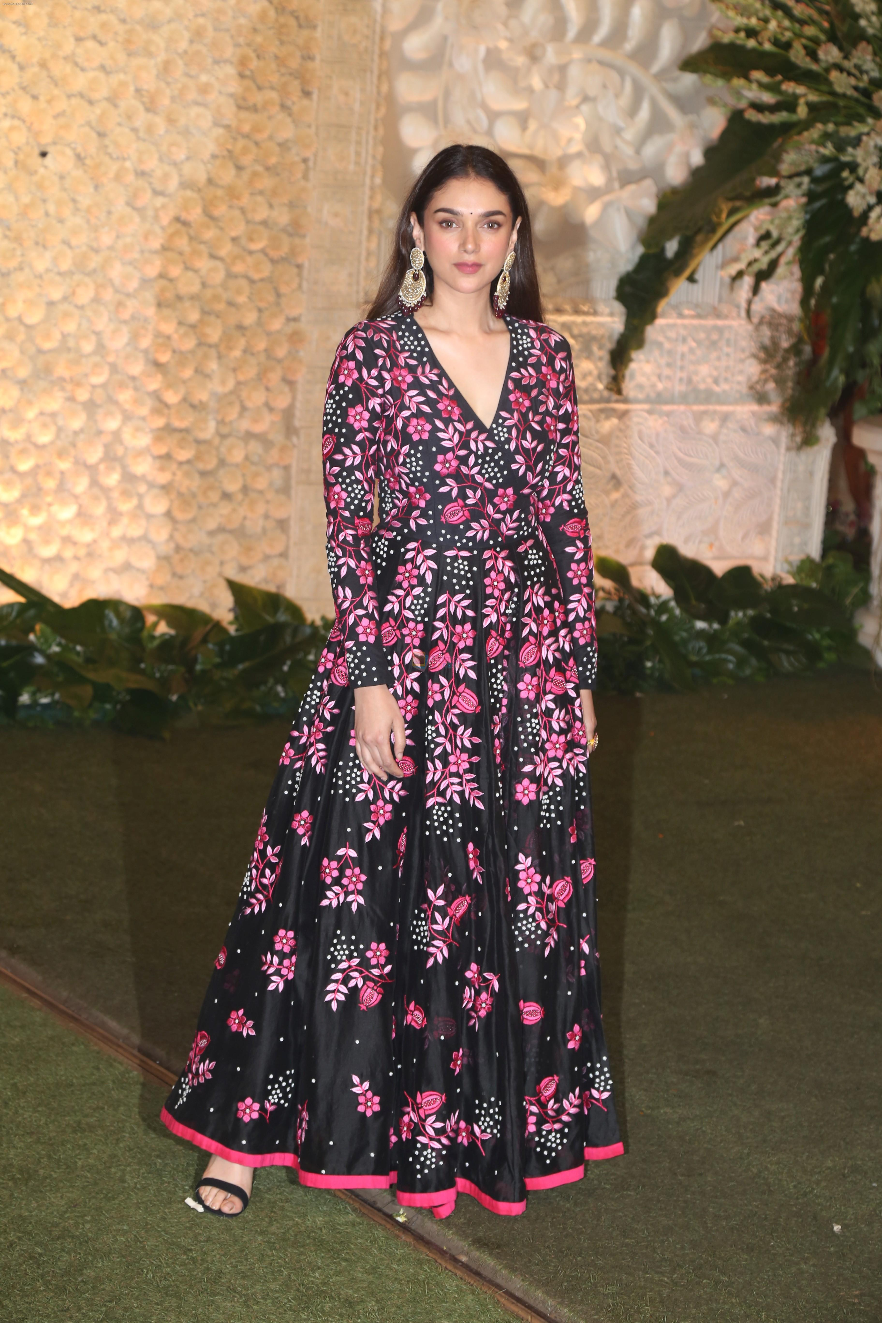 Aditi Rao Hydari at Mukesh Ambani's house for Ganpati celebration on 2nd Sept 2019