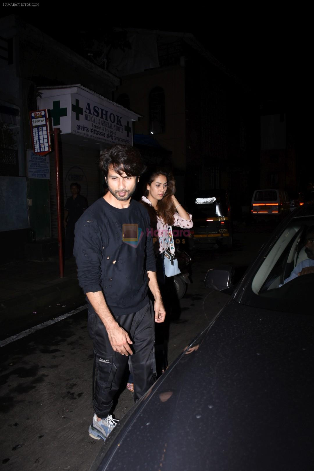 Shahid Kapoor, Mira Rajput spotted at Bandra on 12th Sept 2019