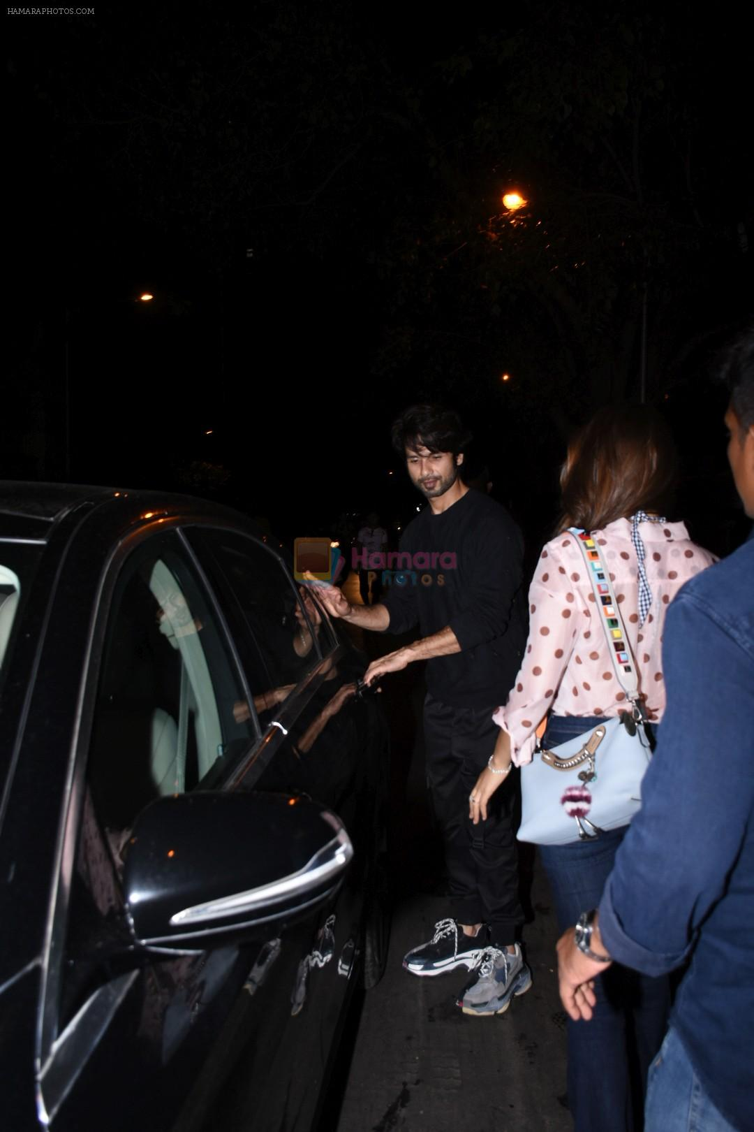 Shahid Kapoor spotted at Bandra on 12th Sept 2019