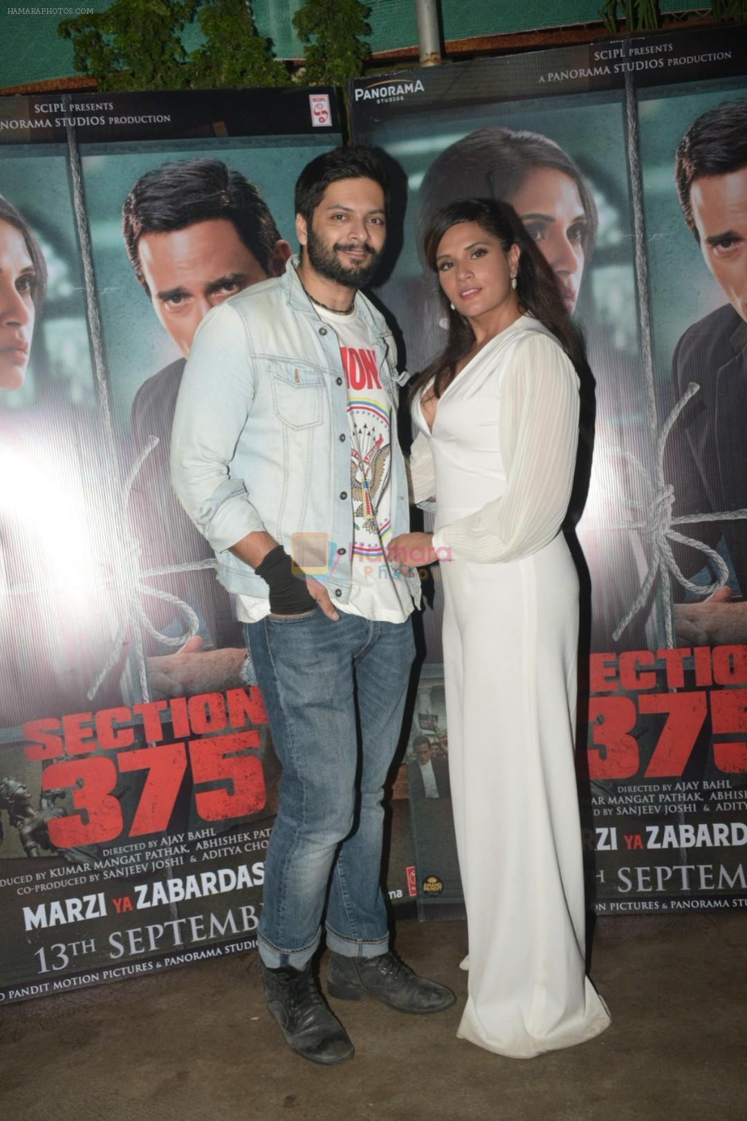 Richa Chadda, Ali Fazal at the Screening of Section 375 in Sunny Sound juhu on 12th Sept 2019