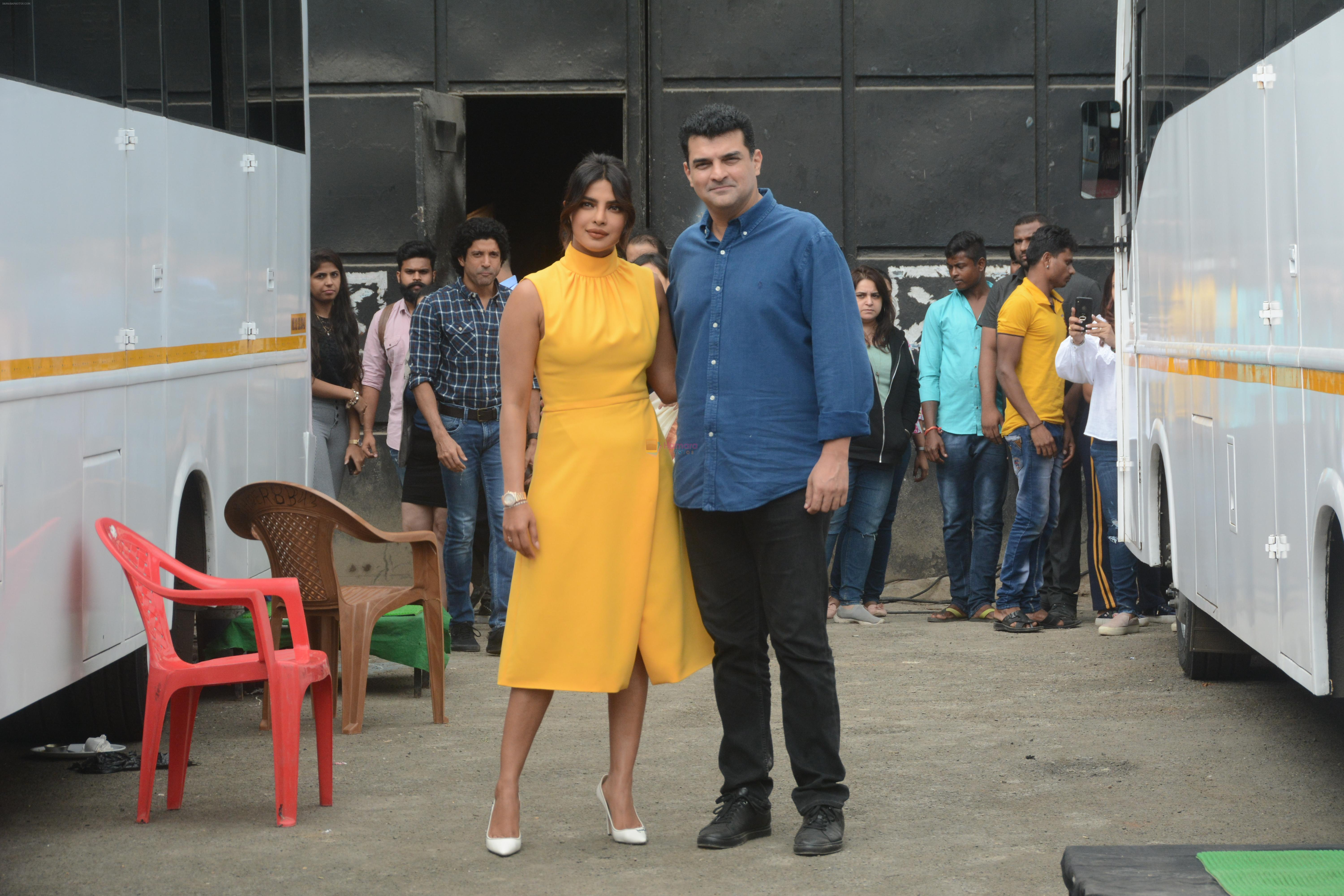 Priyanka Chopra, Siddharth Roy Kapoor at the promotions of film Sky is Pink in filmcity, goregoan on 24th Sept 2019