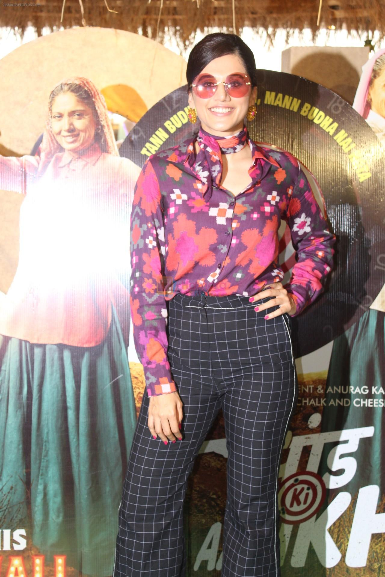 Taapsee Pannu at the Trailer Launch Of Film Saand Ki Aankh on 24th Sept 2019