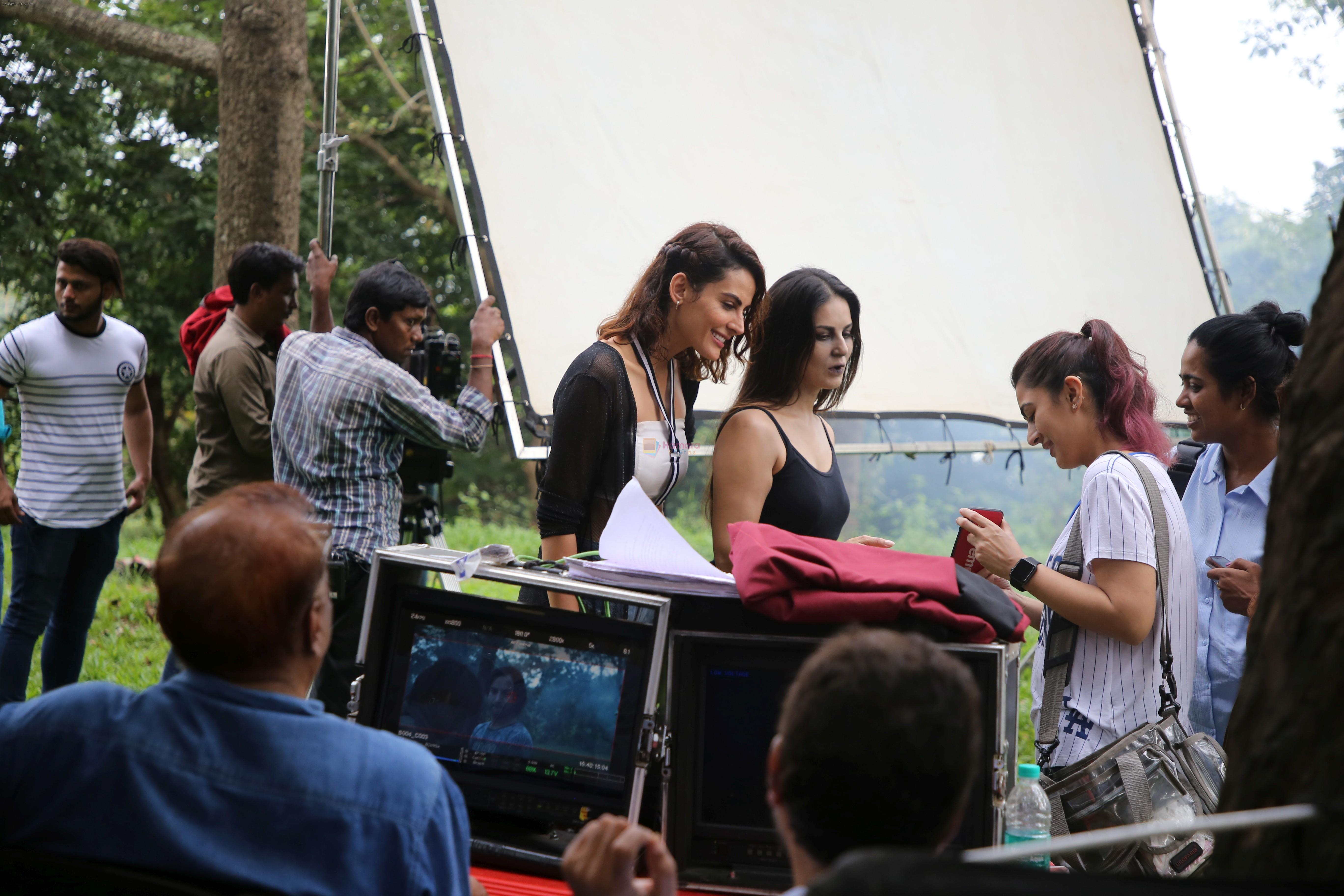 Sunny Leone, Mandana Karimi on location shoot at filmcity on 24th Sept 2019