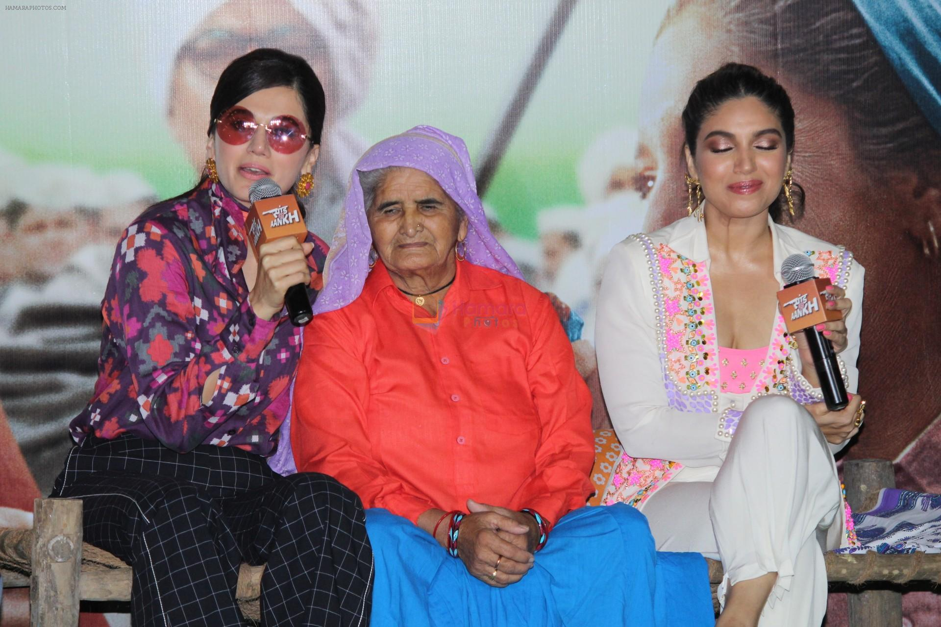 Taapsee Pannu, Bhumi Pednekar at the Trailer Launch Of Film Saand Ki Aankh on 24th Sept 2019