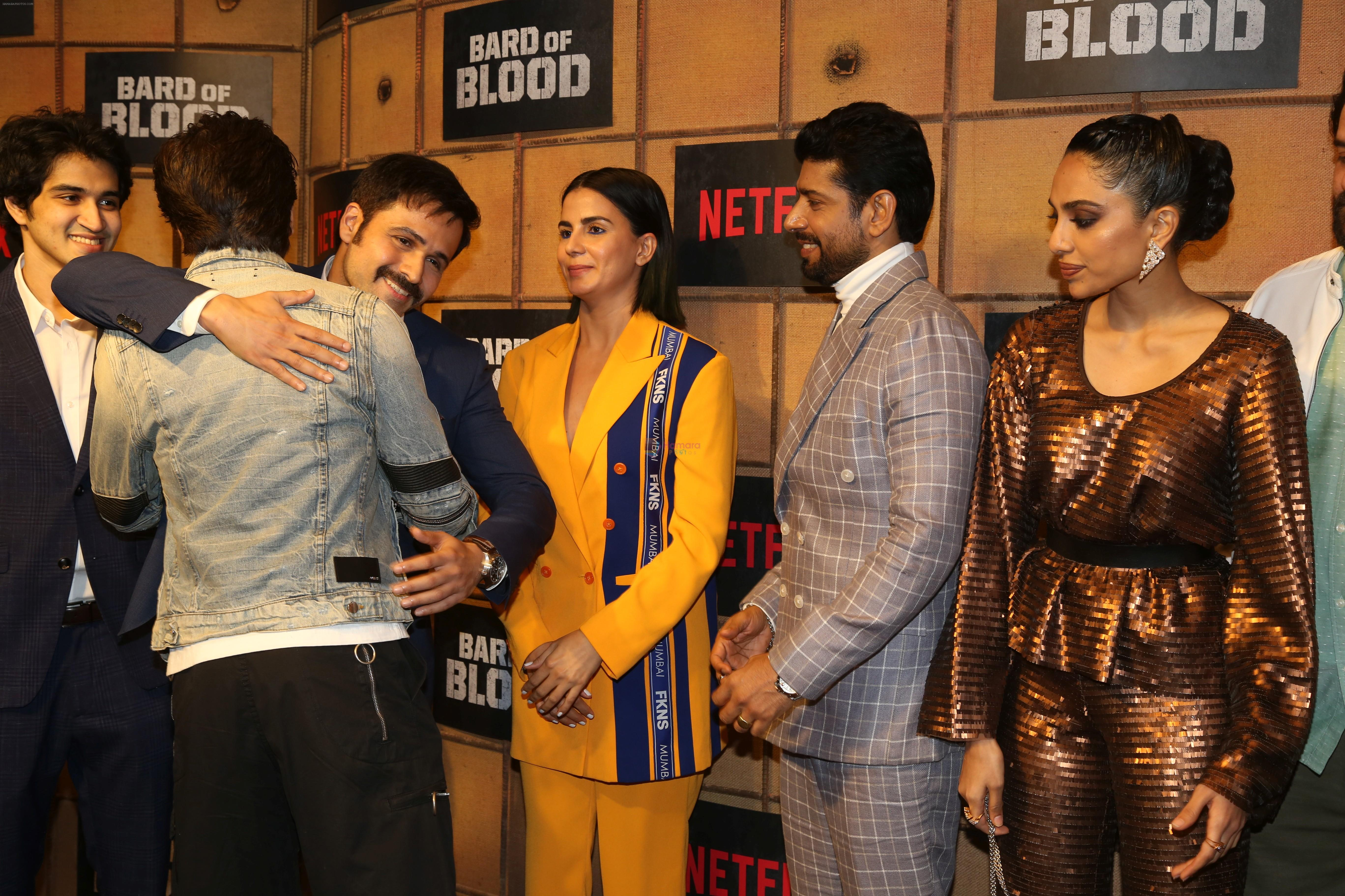 Emraan Hashmi, Kirti Kulhari, Shah Rukh Khan at the screening Netflix Bard of Blood in pvr Phoenix lower parel on 24th Sept 2019