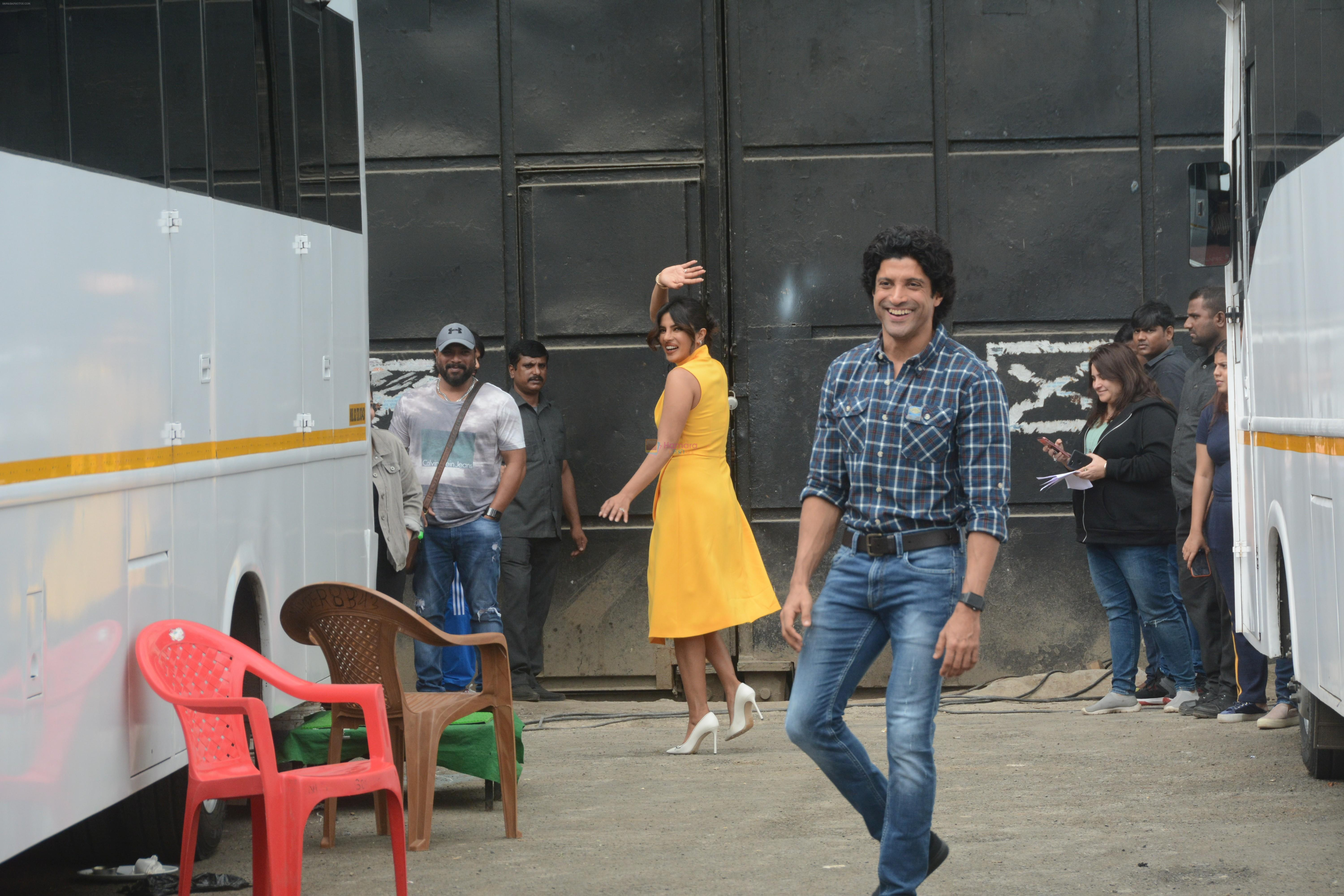 Farhan Akhtar at the promotions of film Sky is Pink in filmcity, goregoan on 24th Sept 2019