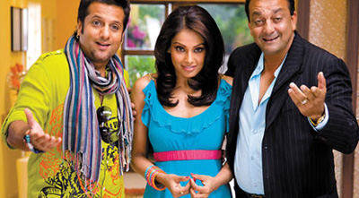 Fardeen, Bipasha and Sanjay in All The Best